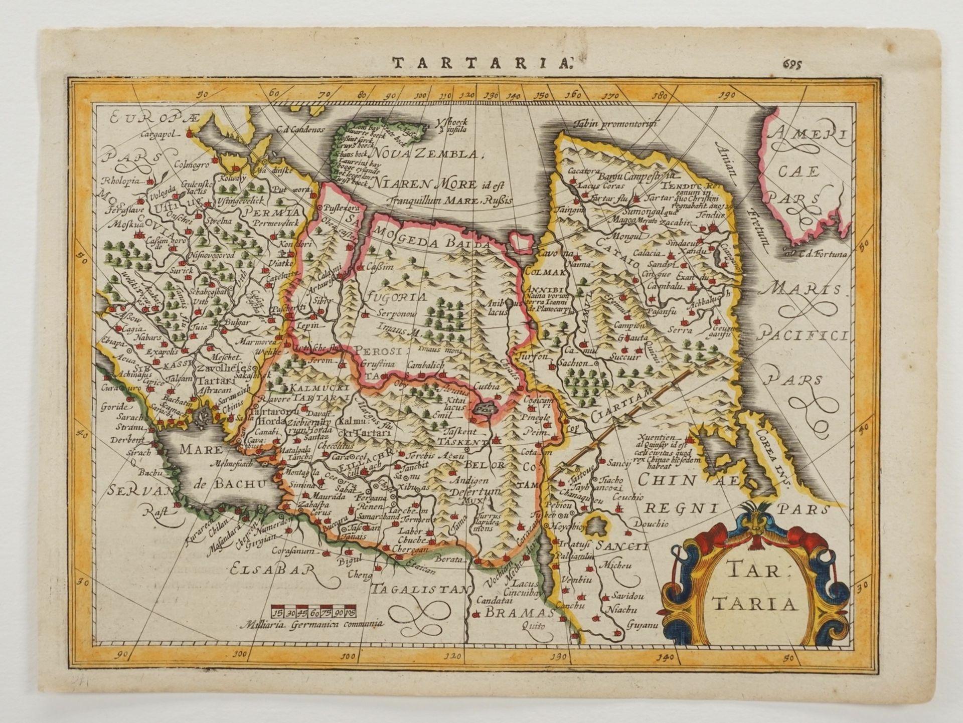 "Gerhard Mercator, ""Tartaria"" (Landkarte Nordost-Asien) - Bild 3 aus 4"