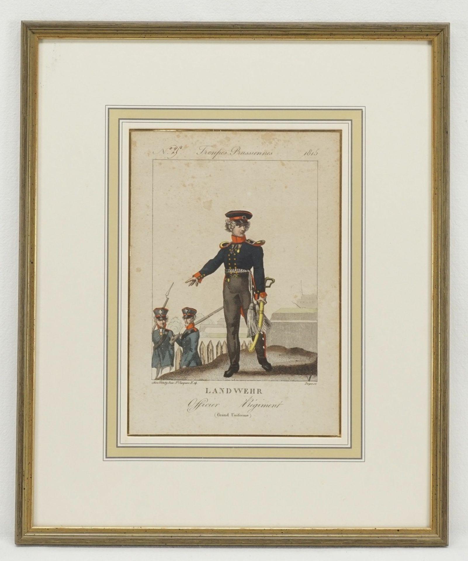 Troupes Prusiennes (Vier Stiche preußischer Soldaten) - Bild 5 aus 5