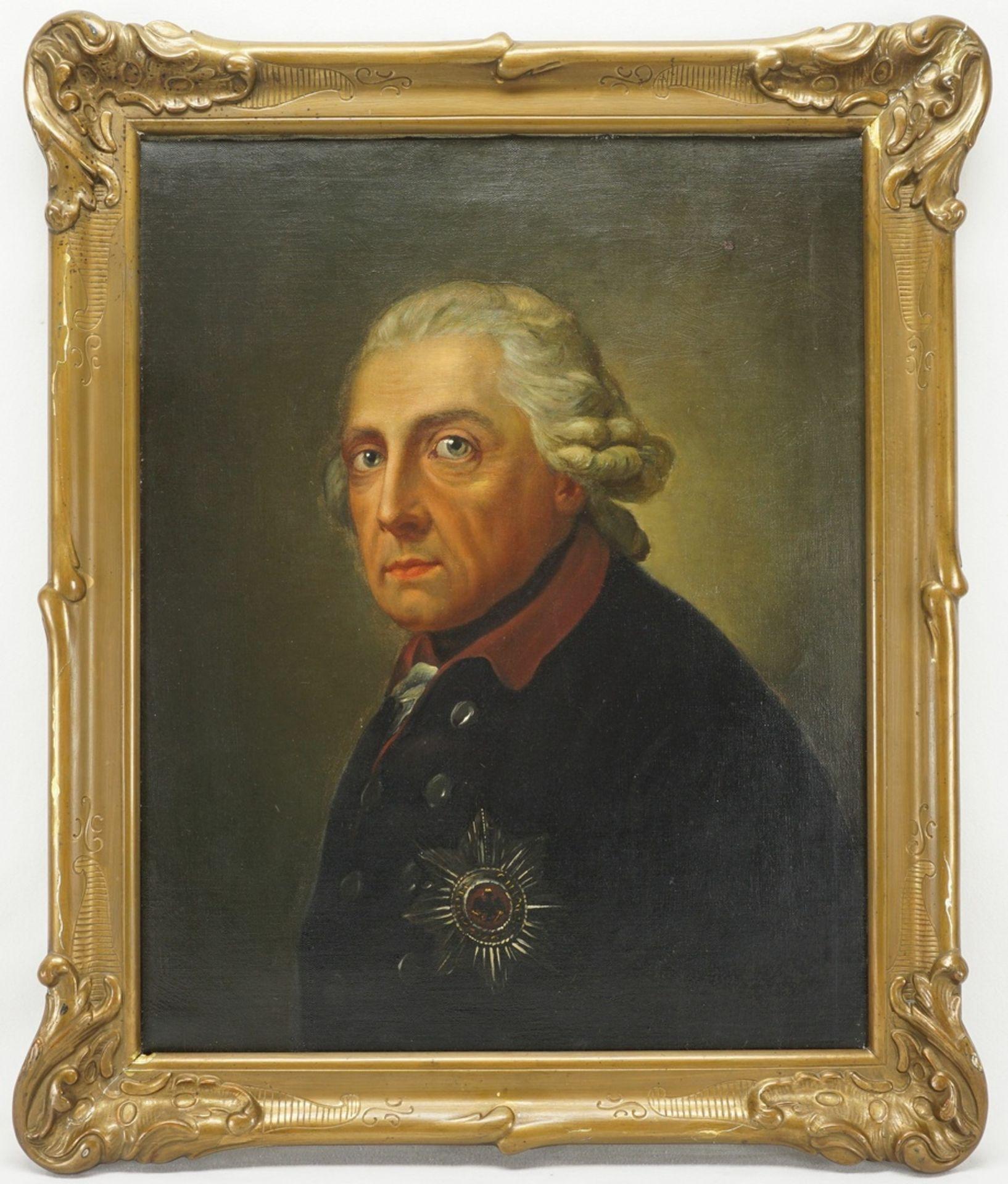 """Anton Graff, """"König Friedrich II. von Preußen (1712-1786)"""" - Bild 2 aus 3"""