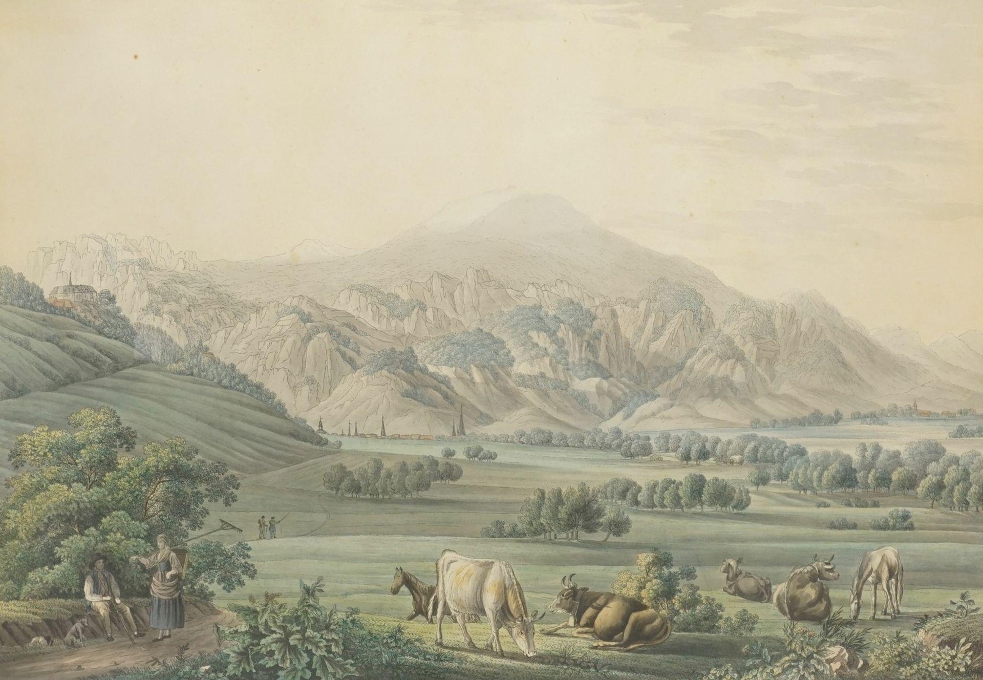 """Carl Mittag-Bernburg, """"Ansicht des Brockens von der Morgenseite"""""""