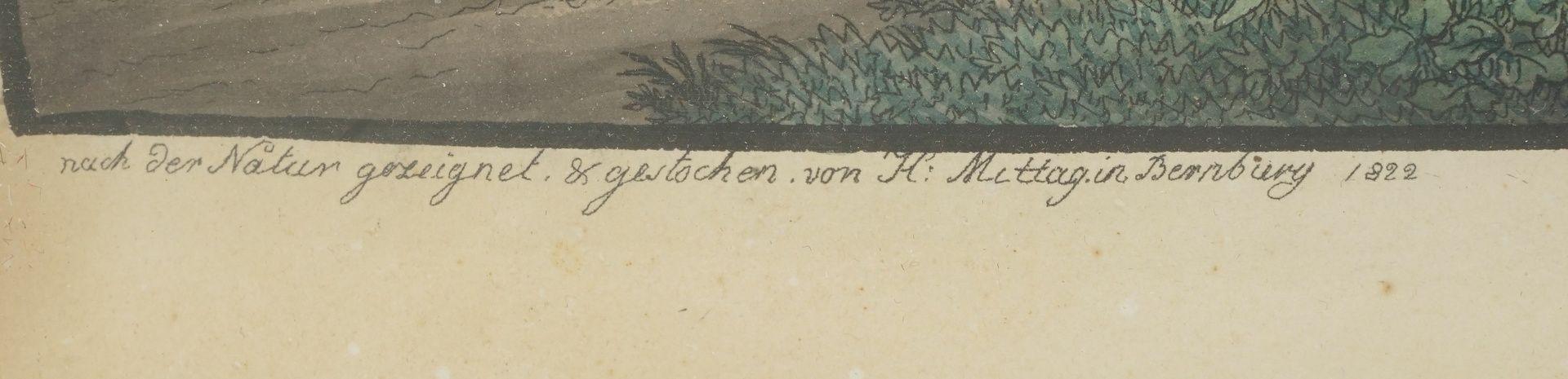 """Carl Mittag-Bernburg, """"Ansicht des Brockens von der Morgenseite"""" - Bild 3 aus 3"""
