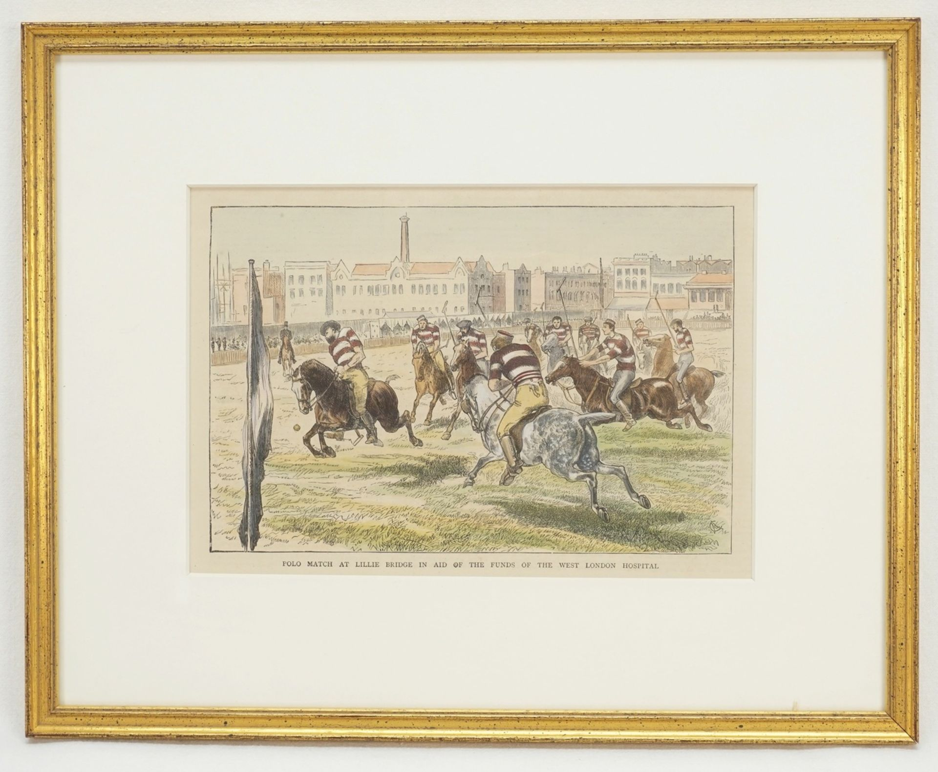 """Britischer Illustrator, """"Polo Match at Lillie Bridge in Aid of the funds of the West London ... - Bild 2 aus 2"""