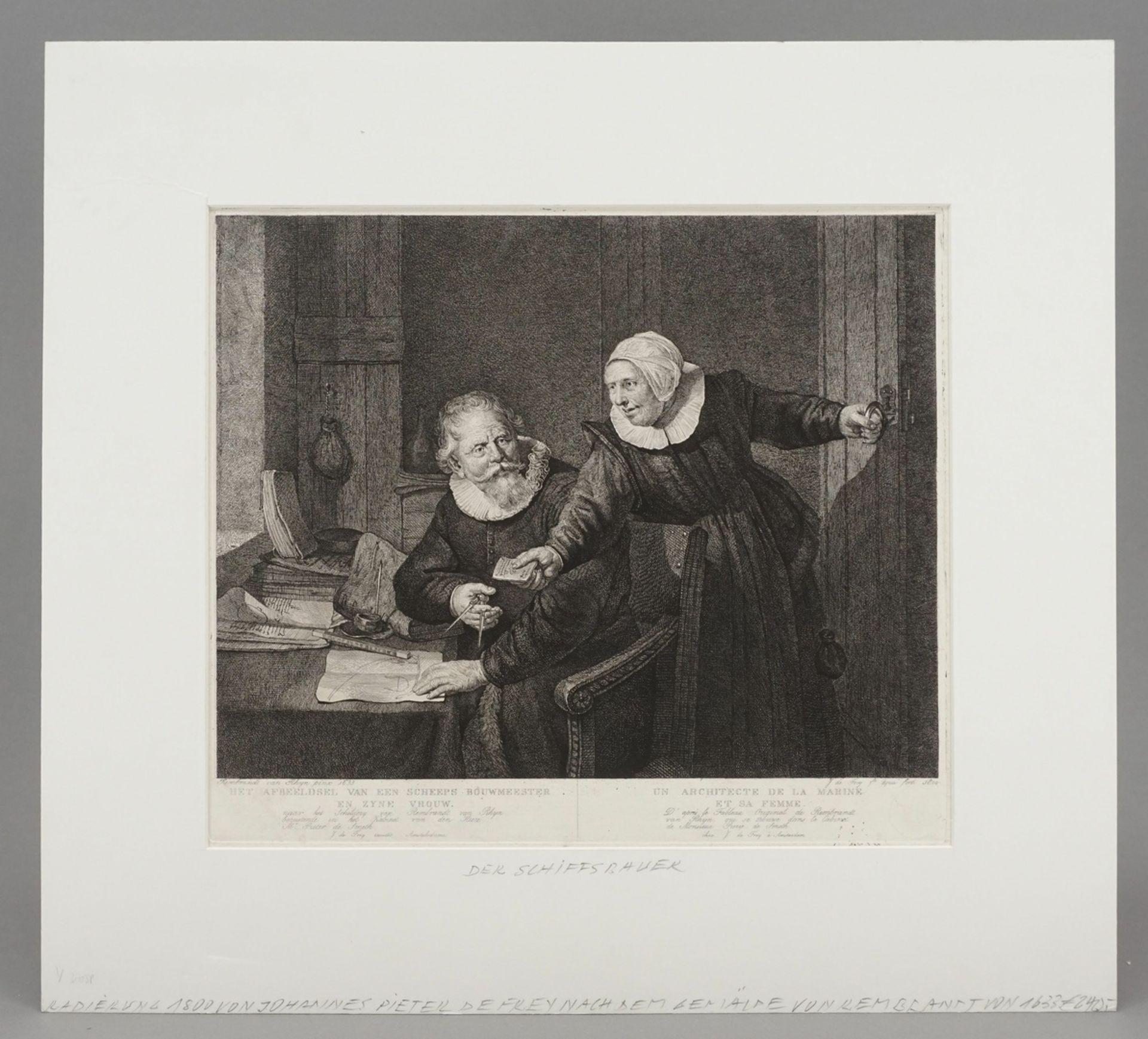 """Rembrandt Harmenszoon van Rijn, """"De Scheeps Bouwmeester"""" (Die Schiffsbauer) - Bild 2 aus 4"""