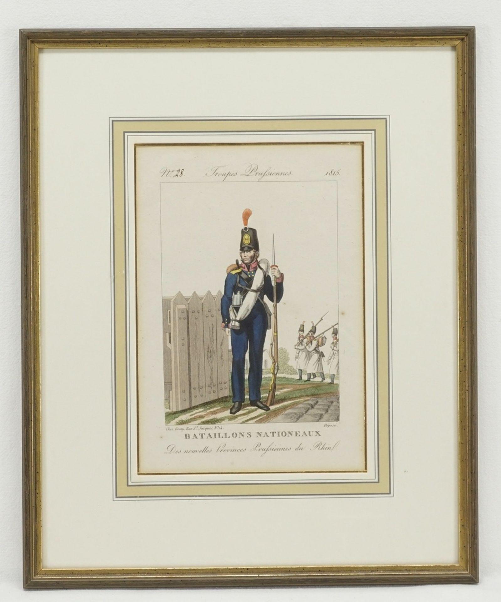 Troupes Prusiennes (Vier Stiche preußischer Soldaten) - Bild 3 aus 5