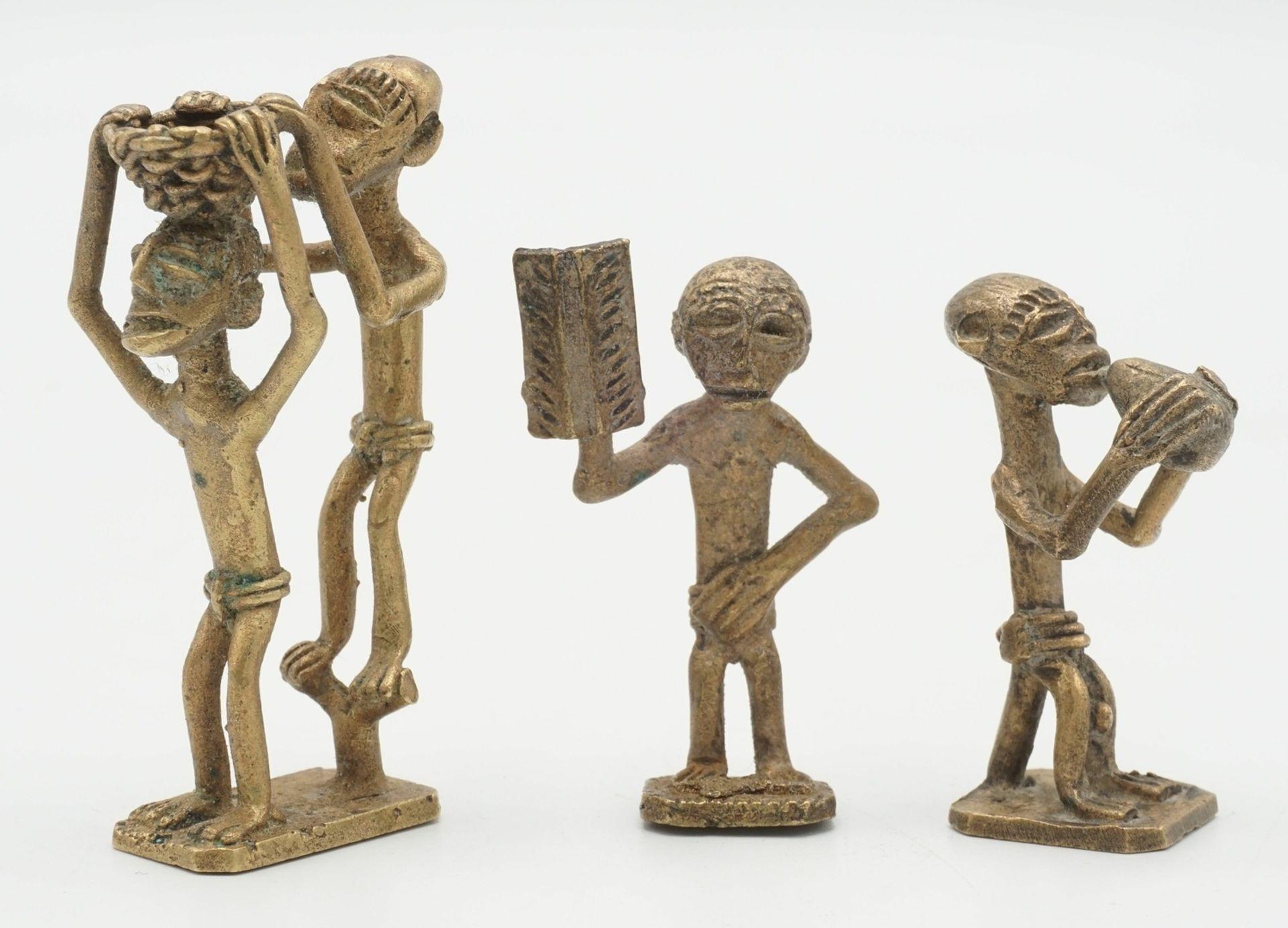 Drei Goldgewichte der Ashanti, Ghana