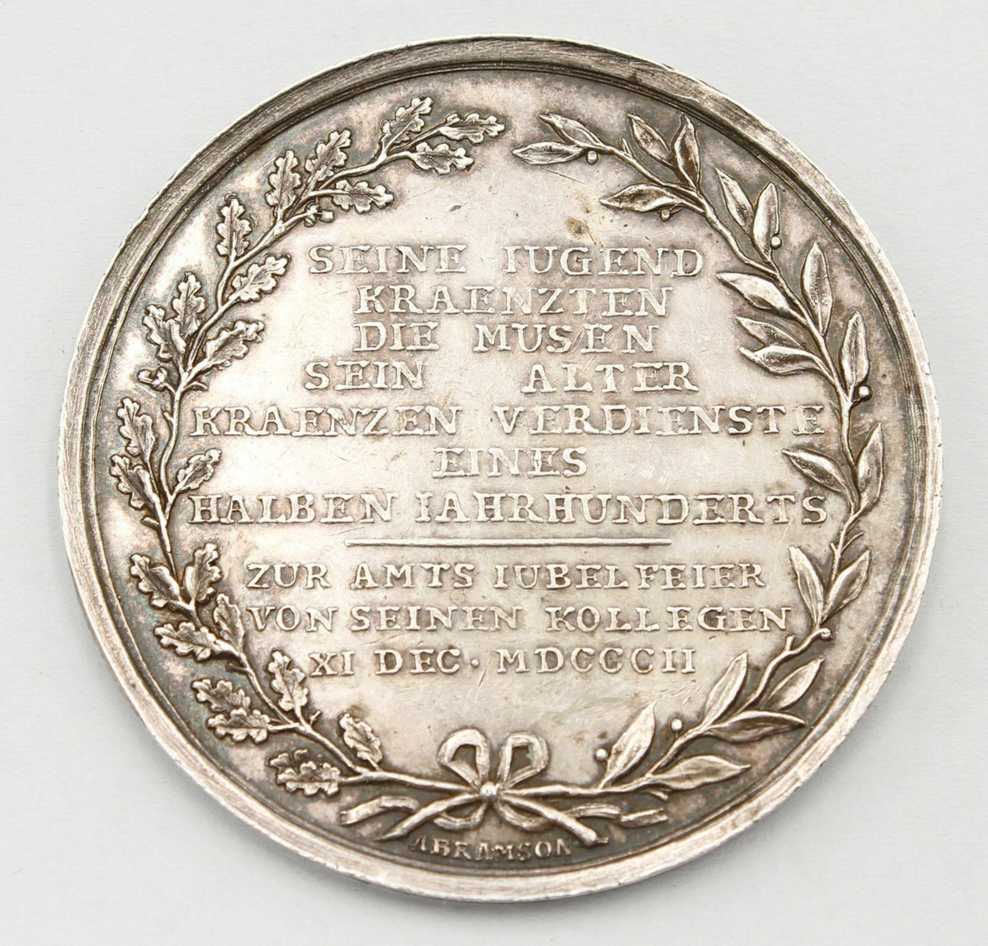 Jubiläumsmedaille Johann August v. Beyer, 1802 - Bild 2 aus 2