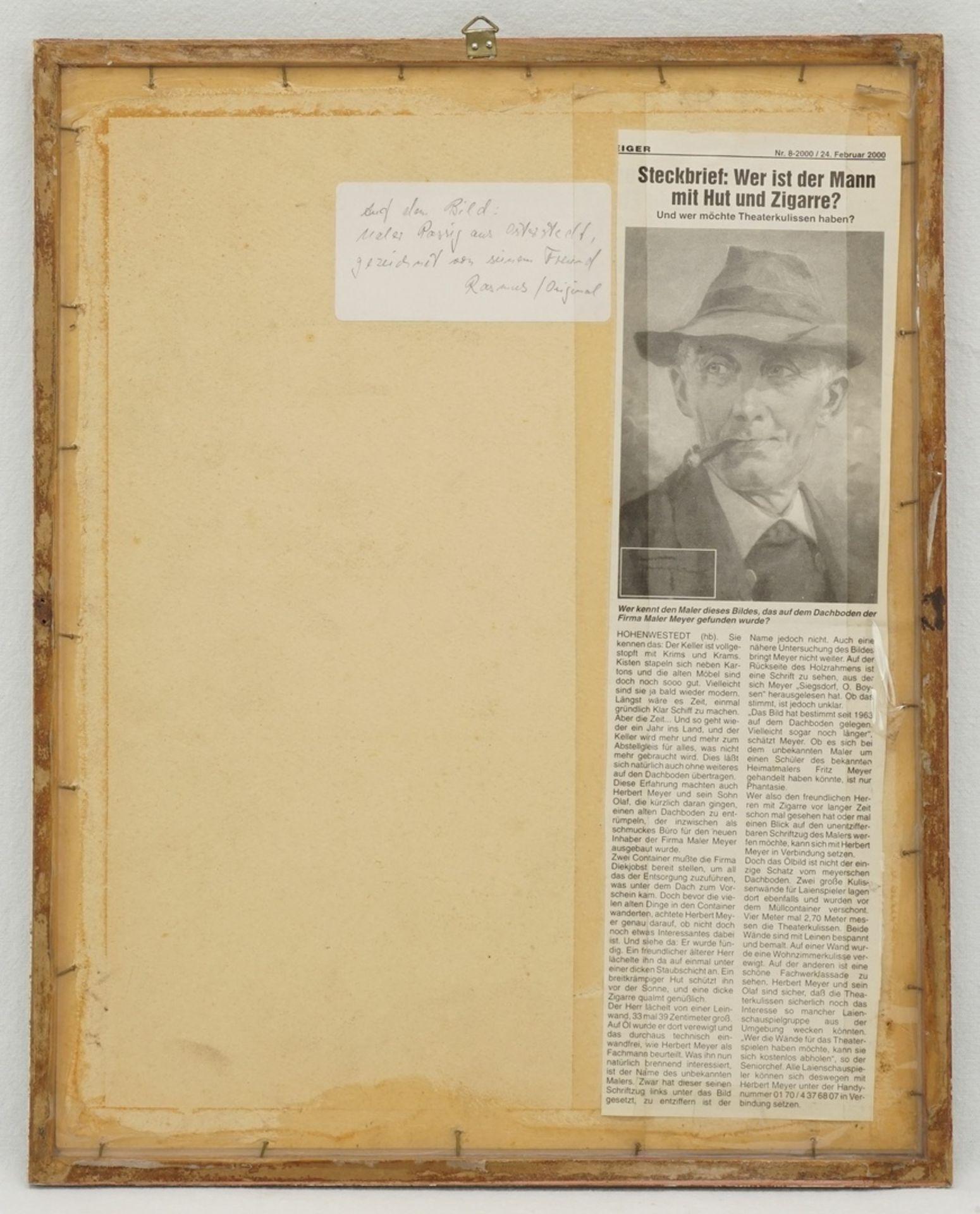 Claus Friedrich Rasmus, Portrait von Benedix Passig - Bild 3 aus 4