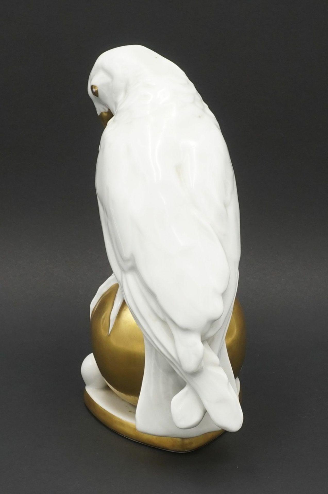 """Fritz Klee, Hutschenreuther """"Papagei auf Kugel"""", 1911-1939 - Bild 3 aus 5"""