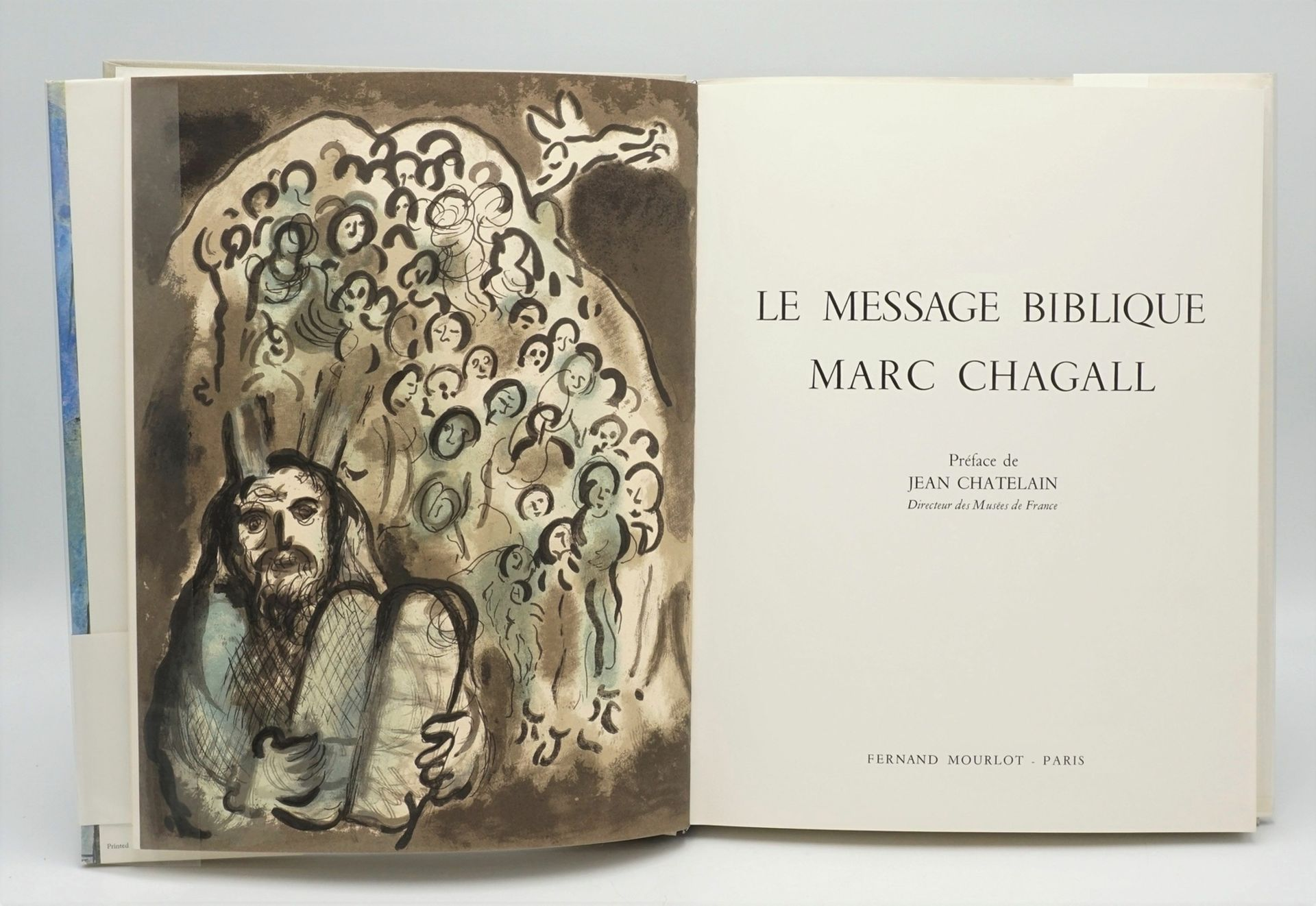 """Marc Chagall, """"Le Message Biblique"""", mit einer Originallithografie - Bild 2 aus 4"""