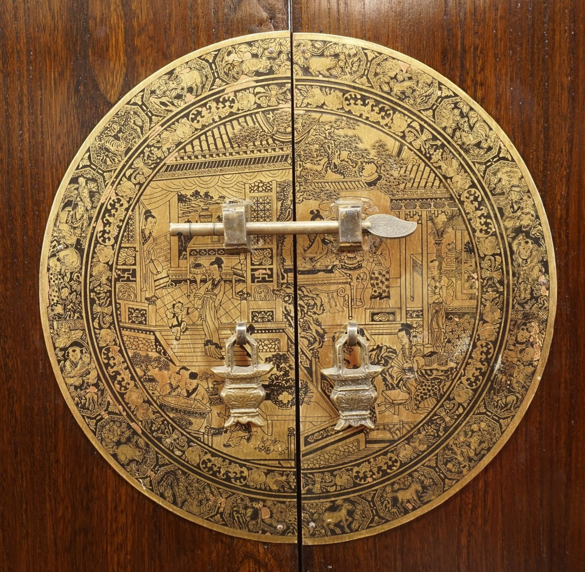 Chinesischer Barschrank, Mahagoni gebeizt - Bild 3 aus 7
