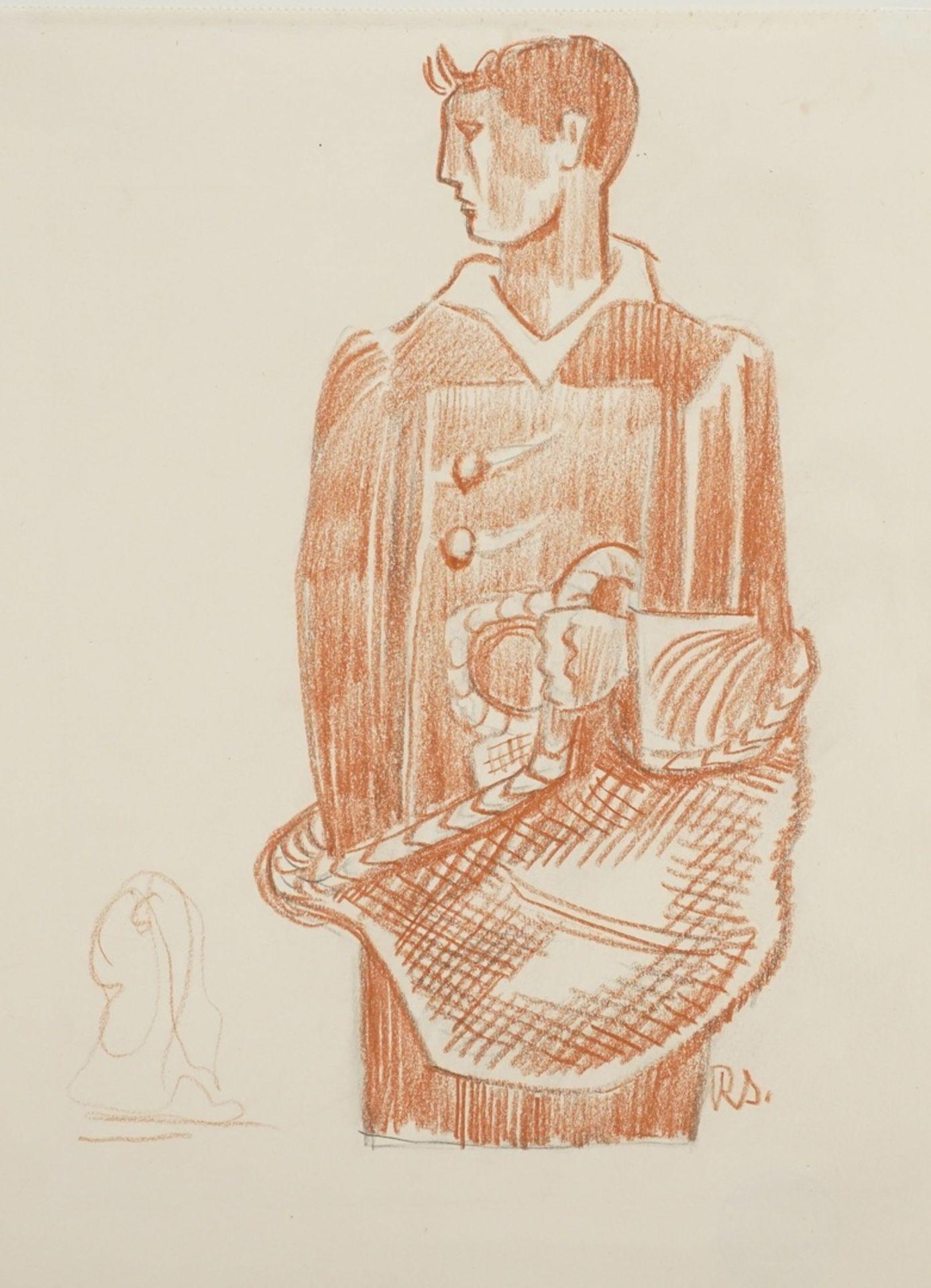 Richard Schwarzkopf, Männliche Figur mit Korb