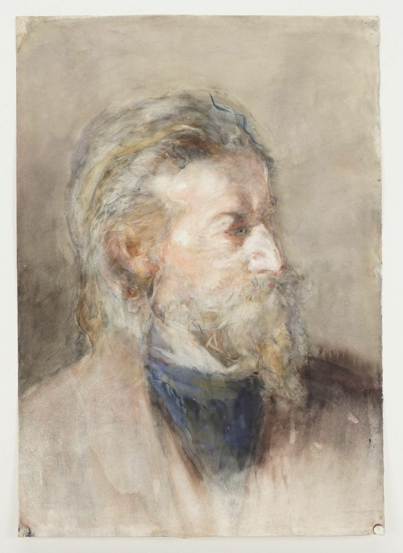 """Unbekannter Portraitist, """"Bildnis eines Herrn mit Spitzbart nach rechts"""" - Bild 3 aus 3"""