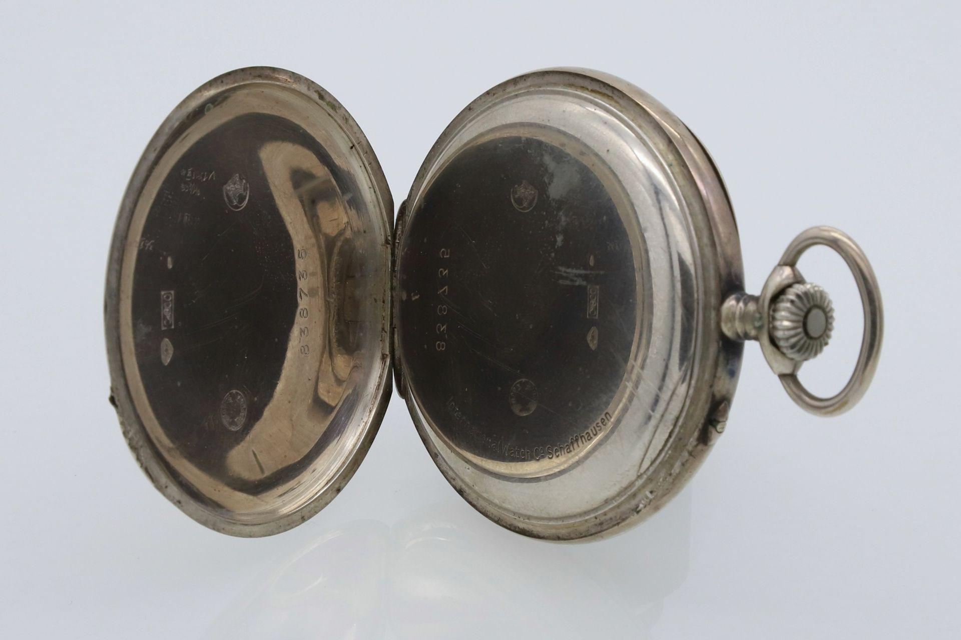 IWC Schaffhausen silberne Taschenuhr, um 1910 - Bild 3 aus 4