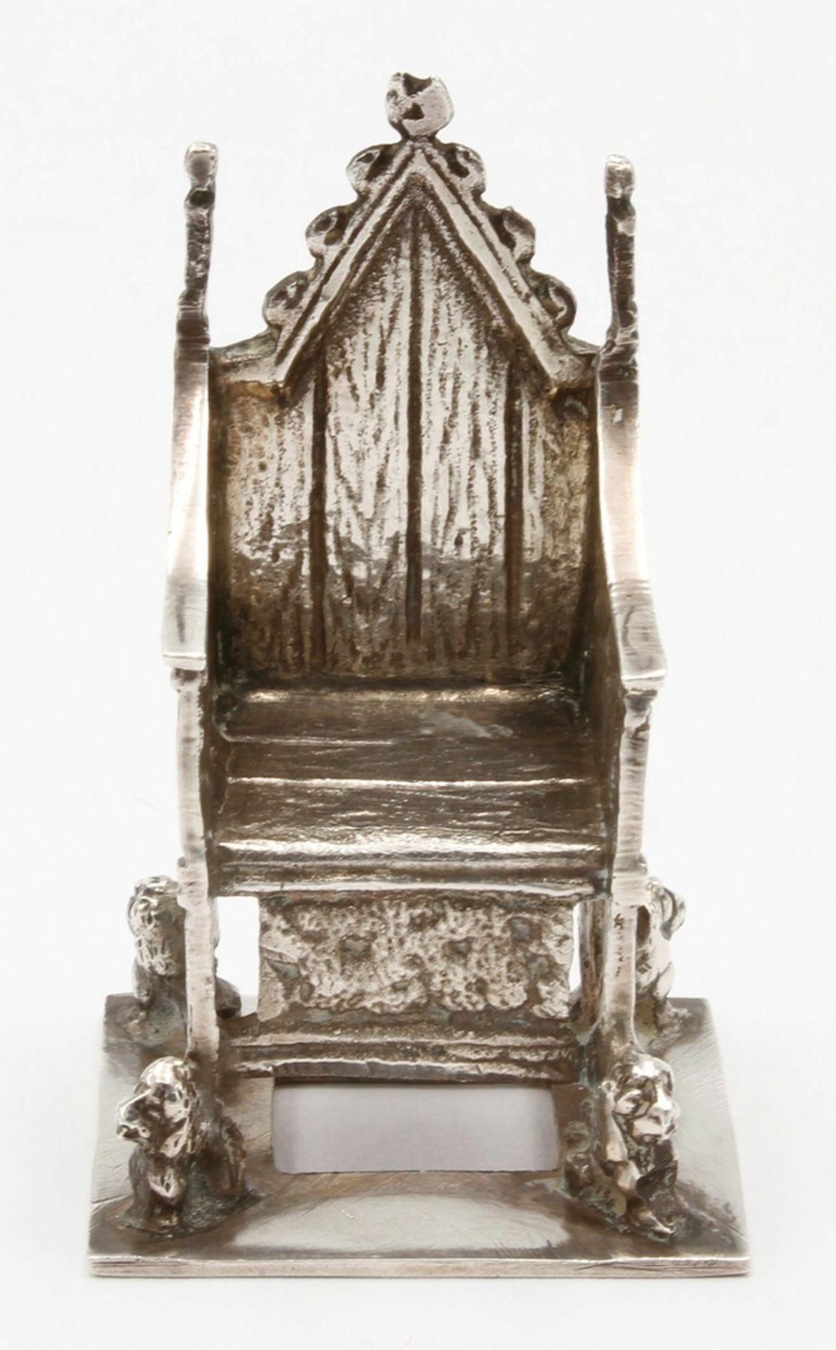Kleiner Silberthron / -sessel, England, 1902 - Bild 2 aus 5