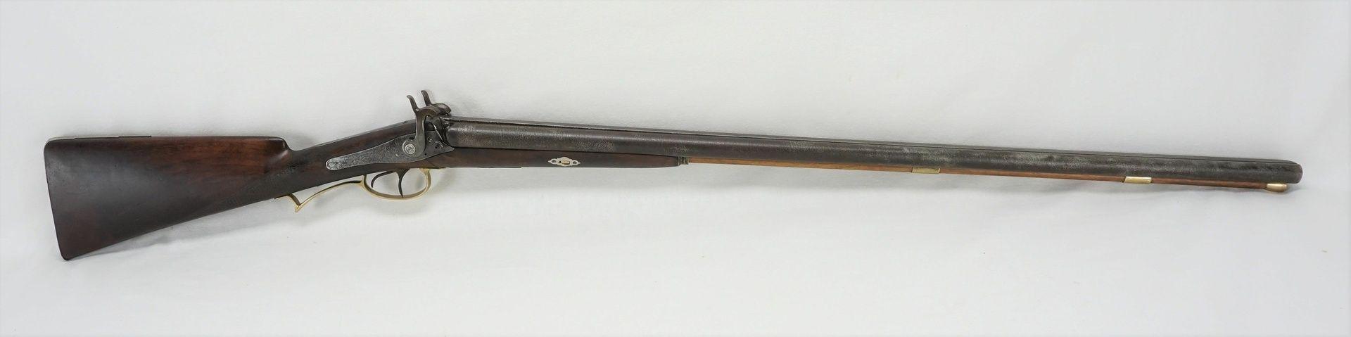 Französische Perkussions-Schrotflinte, um 1850 - Bild 3 aus 6