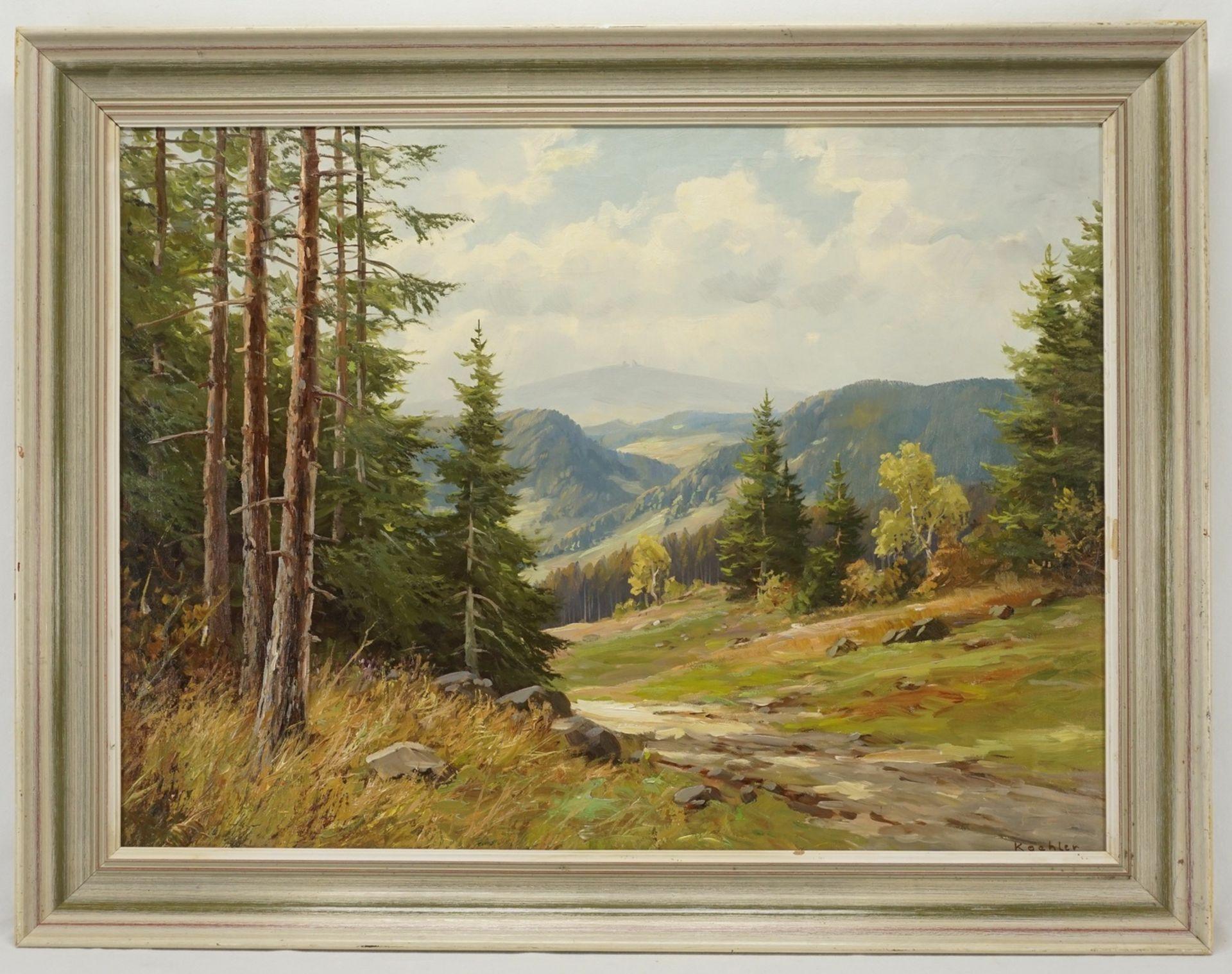 Koehler, Harzlandschaft mit Brockenblick - Bild 2 aus 4