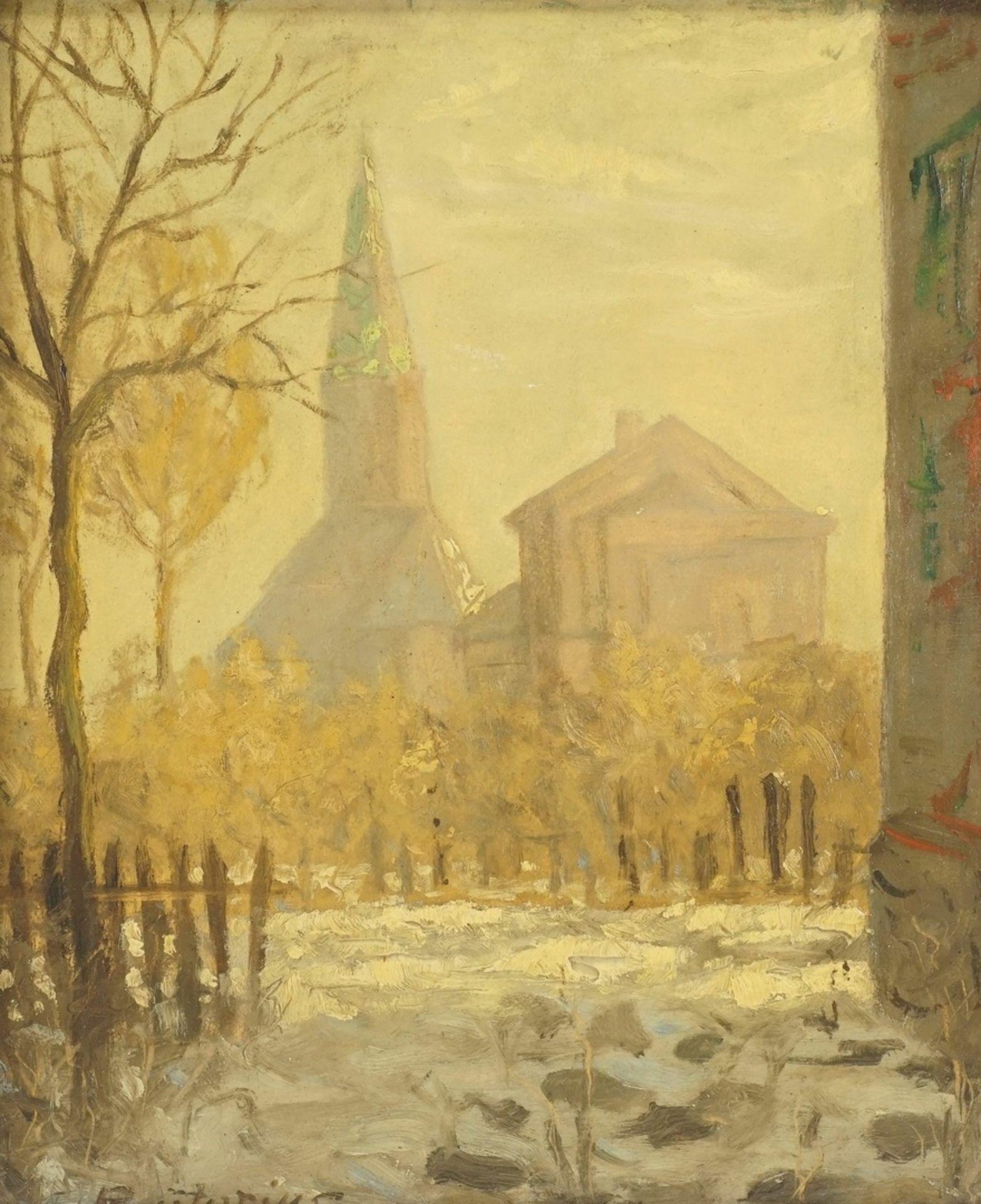 Friedrich Prätorius, Winterblick auf die Kirche