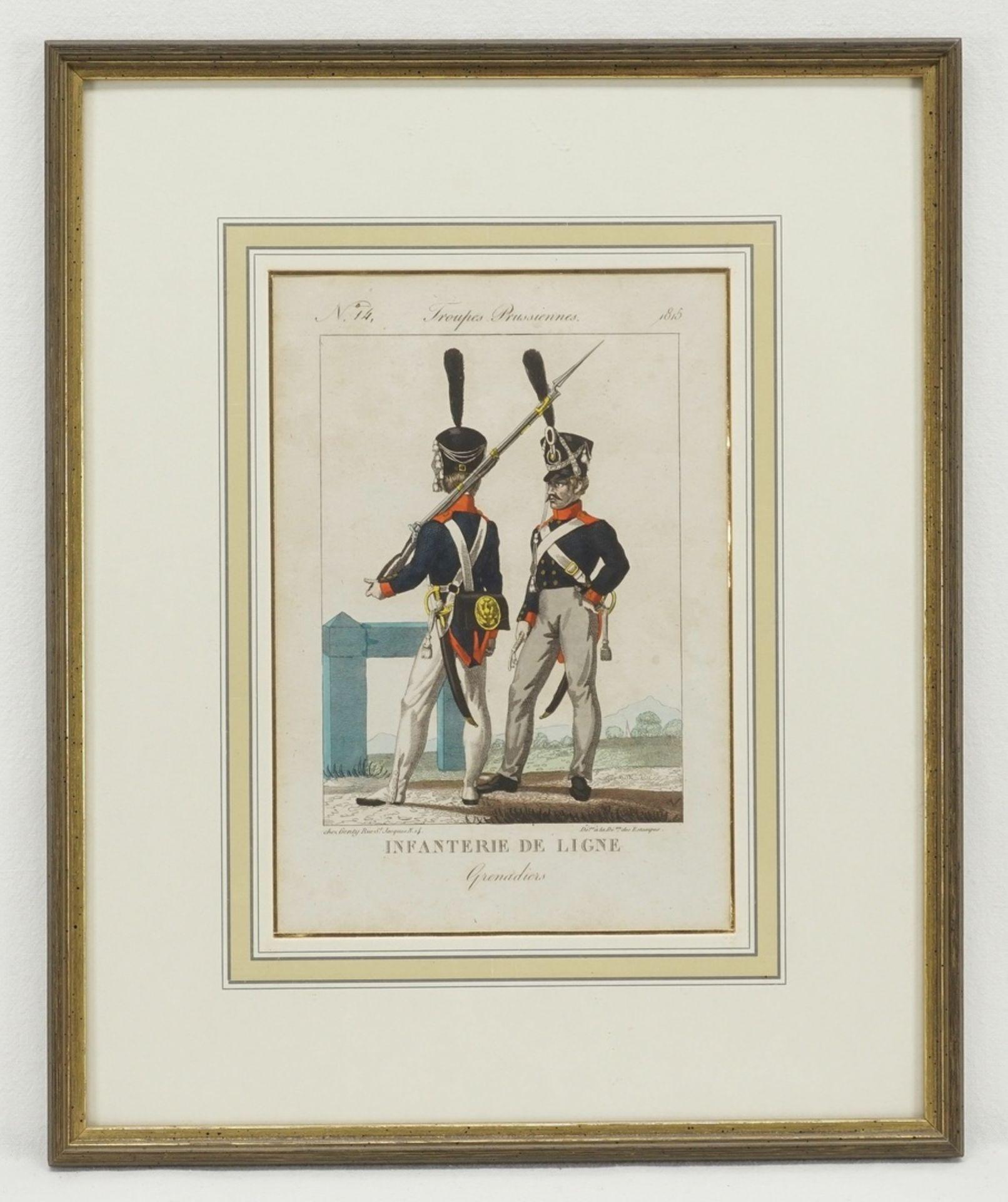 Troupes Prusiennes (Vier Stiche preußischer Soldaten) - Bild 2 aus 5