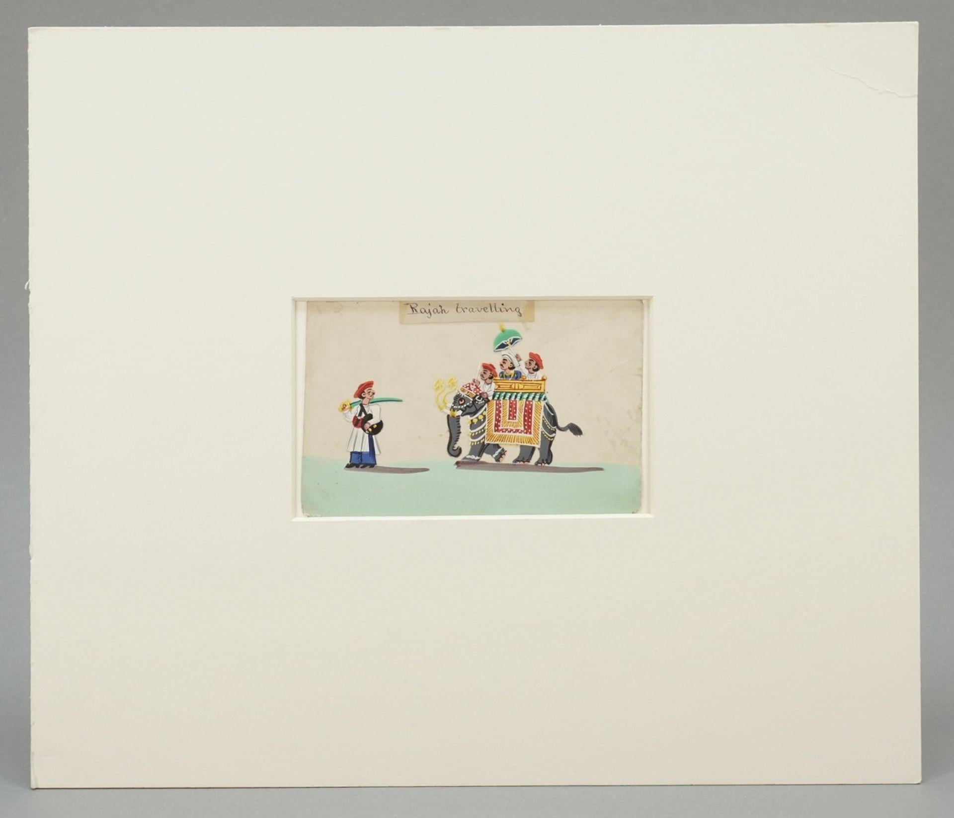 """Indischer Künstler, """"Rajah travelling (Der Maharadscha auf Reisen)"""" - Bild 2 aus 3"""