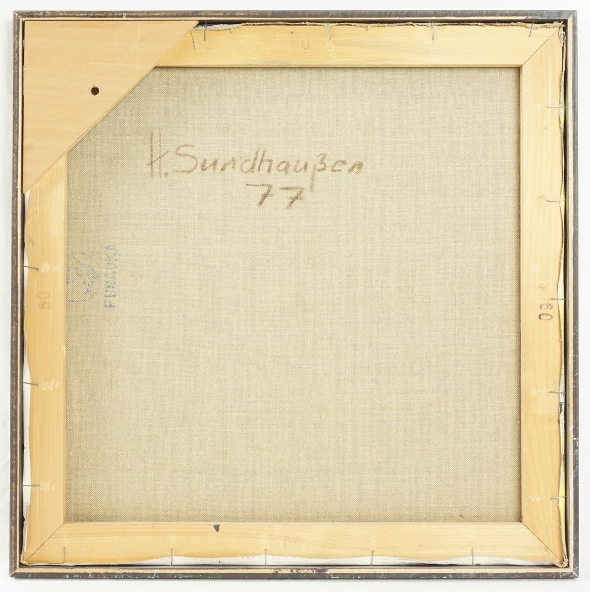 Helmut Sundhaußen, Geometrische Komposition auf Gelb - Bild 2 aus 2