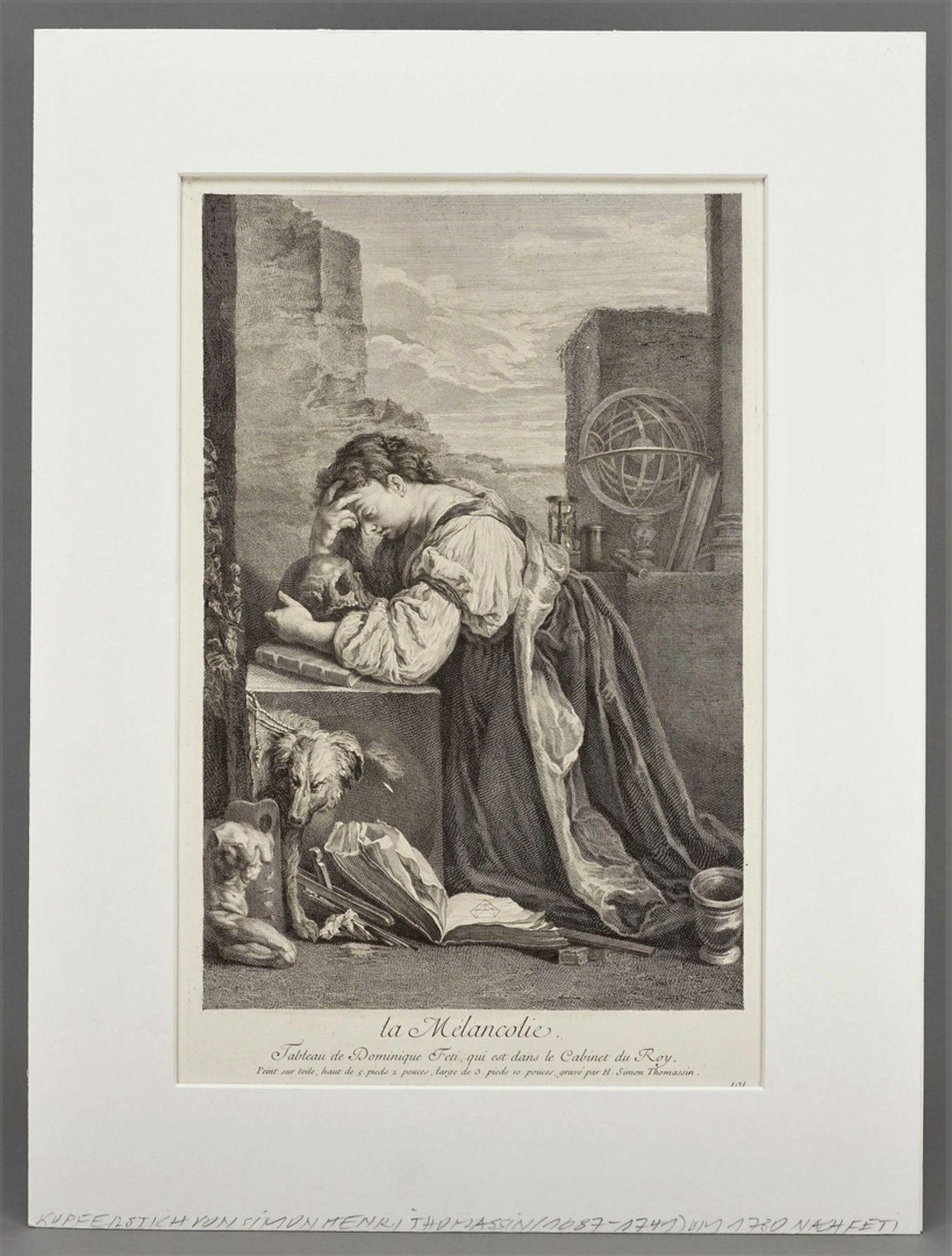 """Henri Simon Thomassin, """"la Mélancolie (Die Melancholie)"""" - Bild 2 aus 3"""