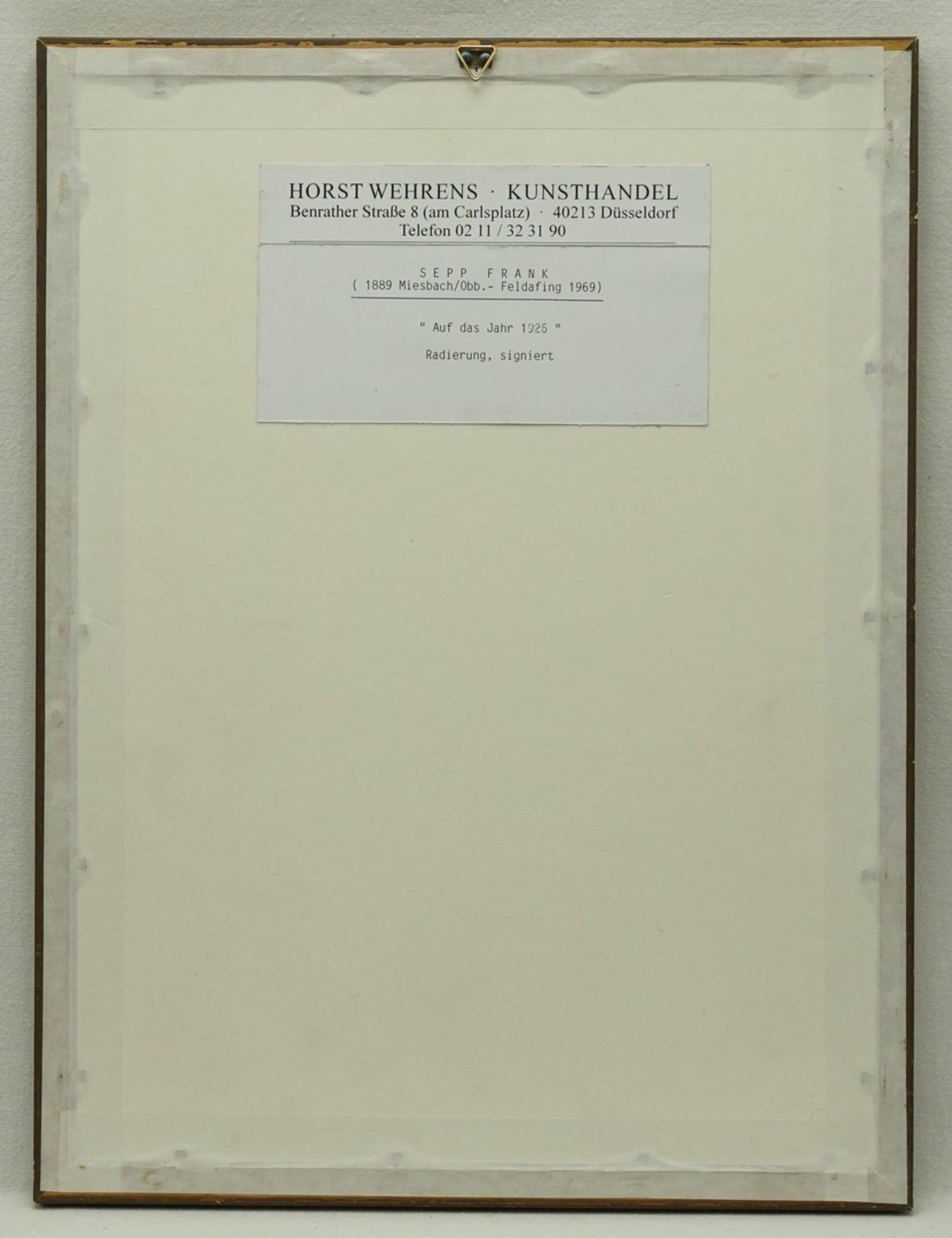 """Sepp Frank, """"Für 1926"""" - Bild 3 aus 4"""