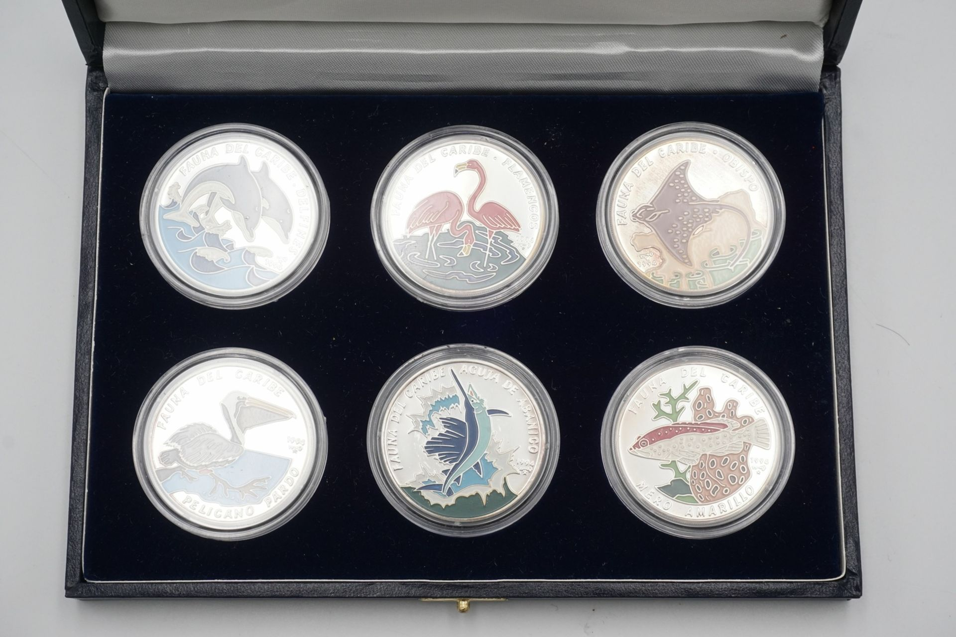 Sechs kubanische Silbermünzen - Bild 2 aus 3