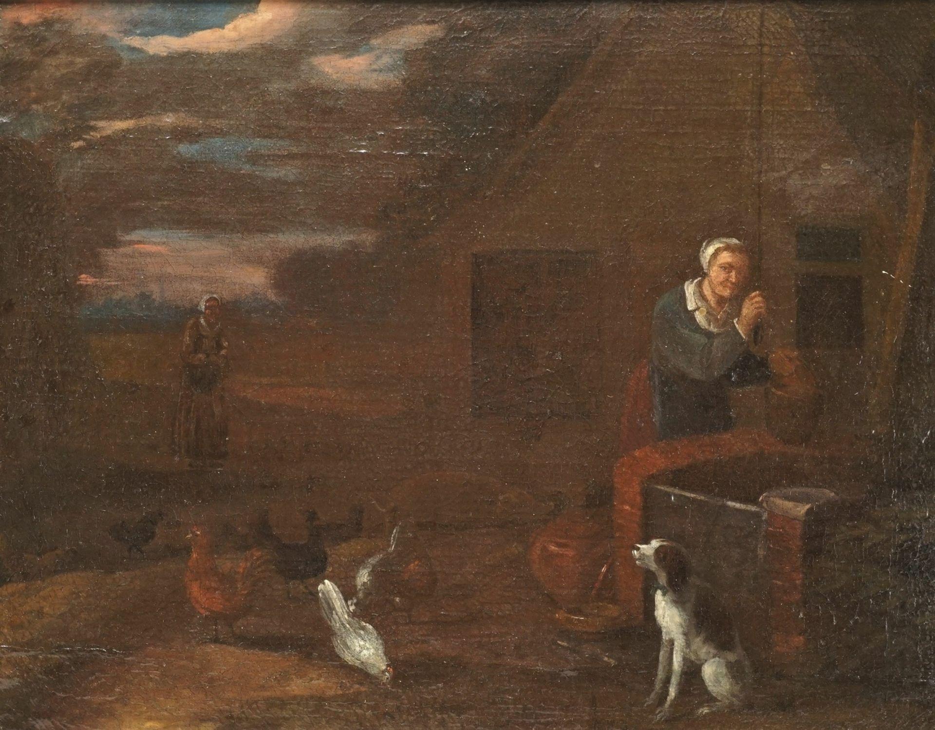 """Egbert Lievensz. van der Poel, """"Mit Hund und Hühnern am Brunnen"""" - Bild 2 aus 4"""