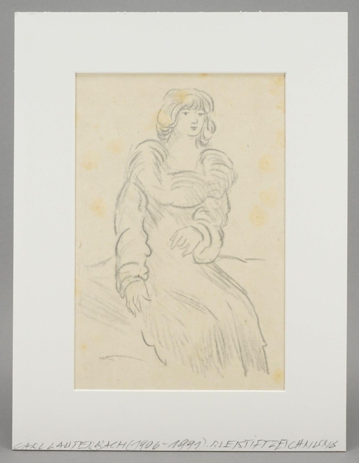 Carl Lauterbach, Junge Dame mit großem Kragen - Bild 2 aus 4