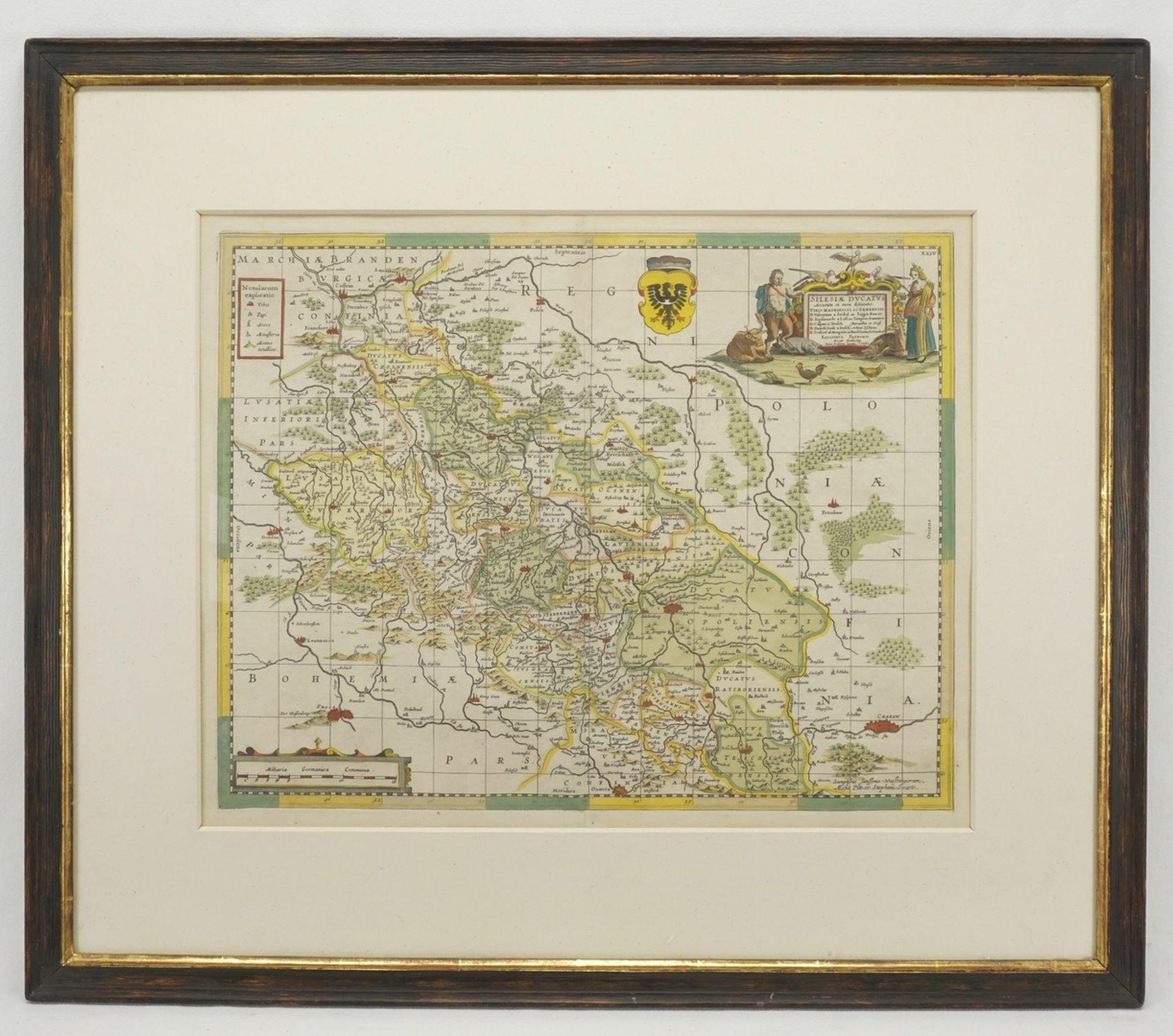 "Johannes Janssonius, ""Silesiae Ducatus"" (Landkarte des Herzogtums Schlesien) - Bild 2 aus 2"