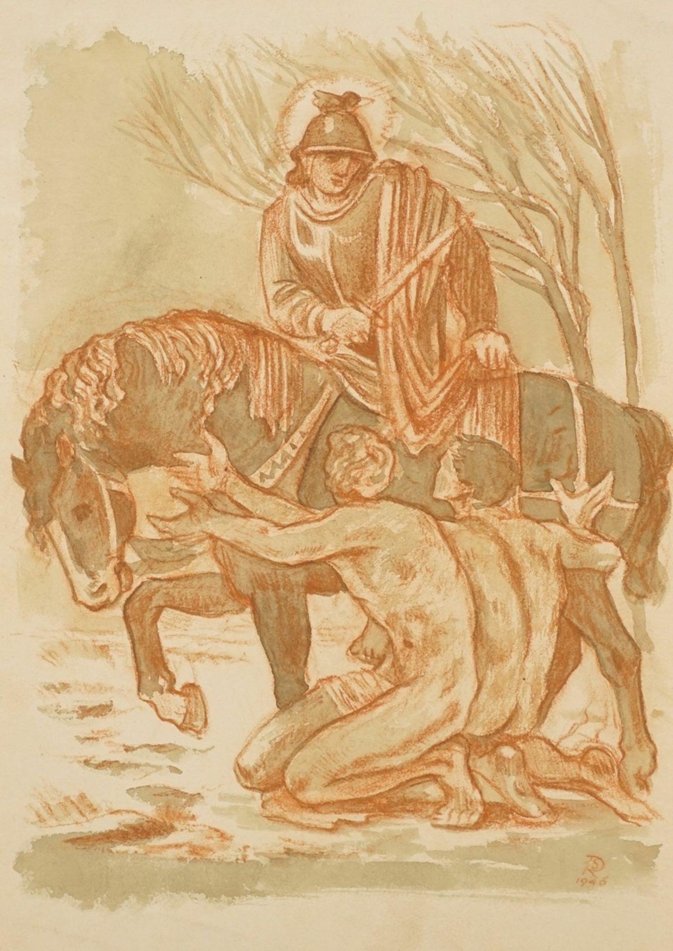Richard Schwarzkopf, Der Heilige Martin zu Pferde