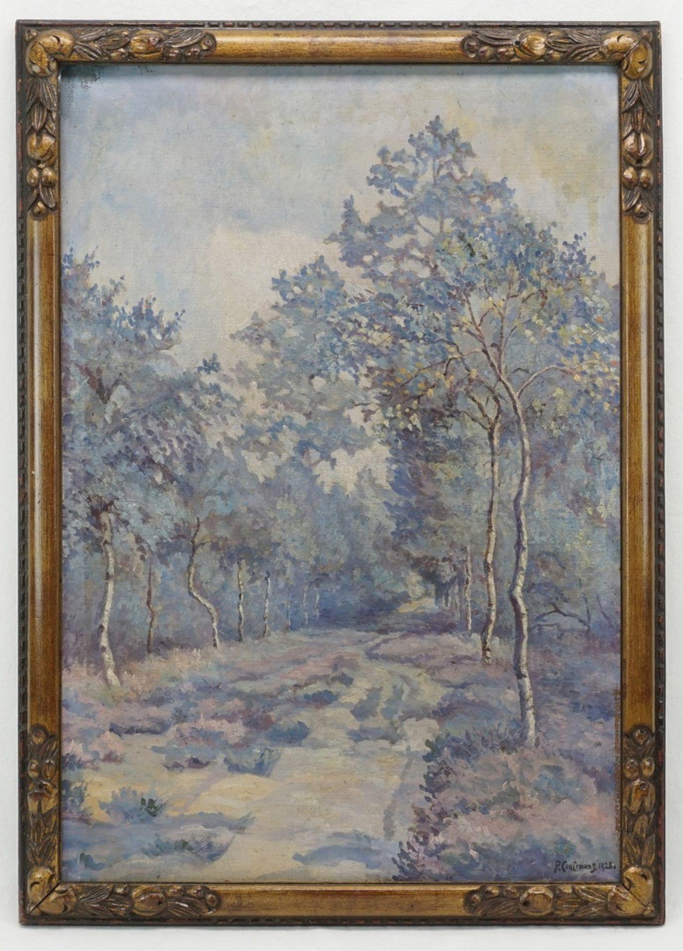 """P. Coulemans, """"Birken am Waldweg"""" - Bild 2 aus 4"""