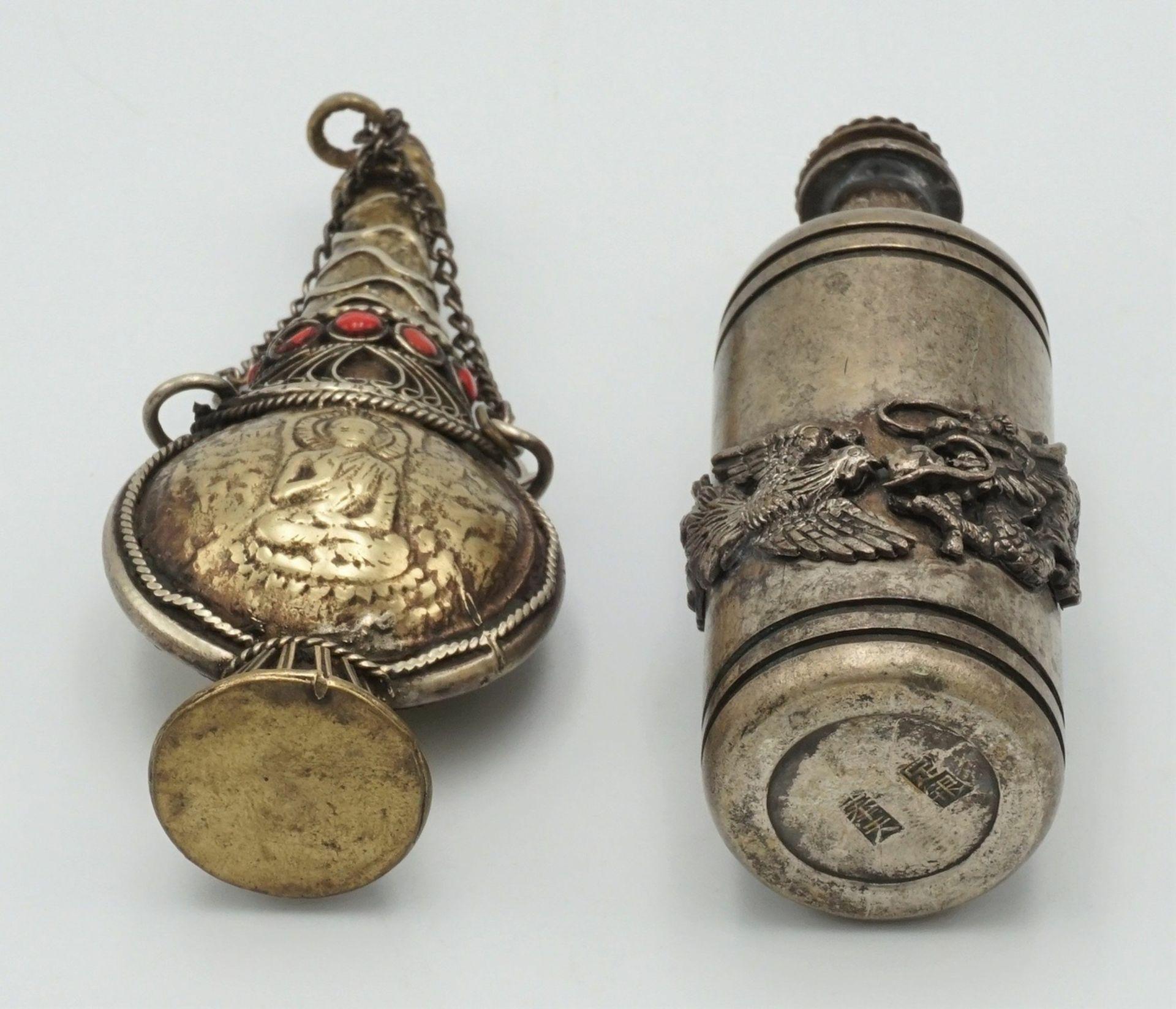 Drei Snuff Bottles, China, um 1900 - Bild 3 aus 5