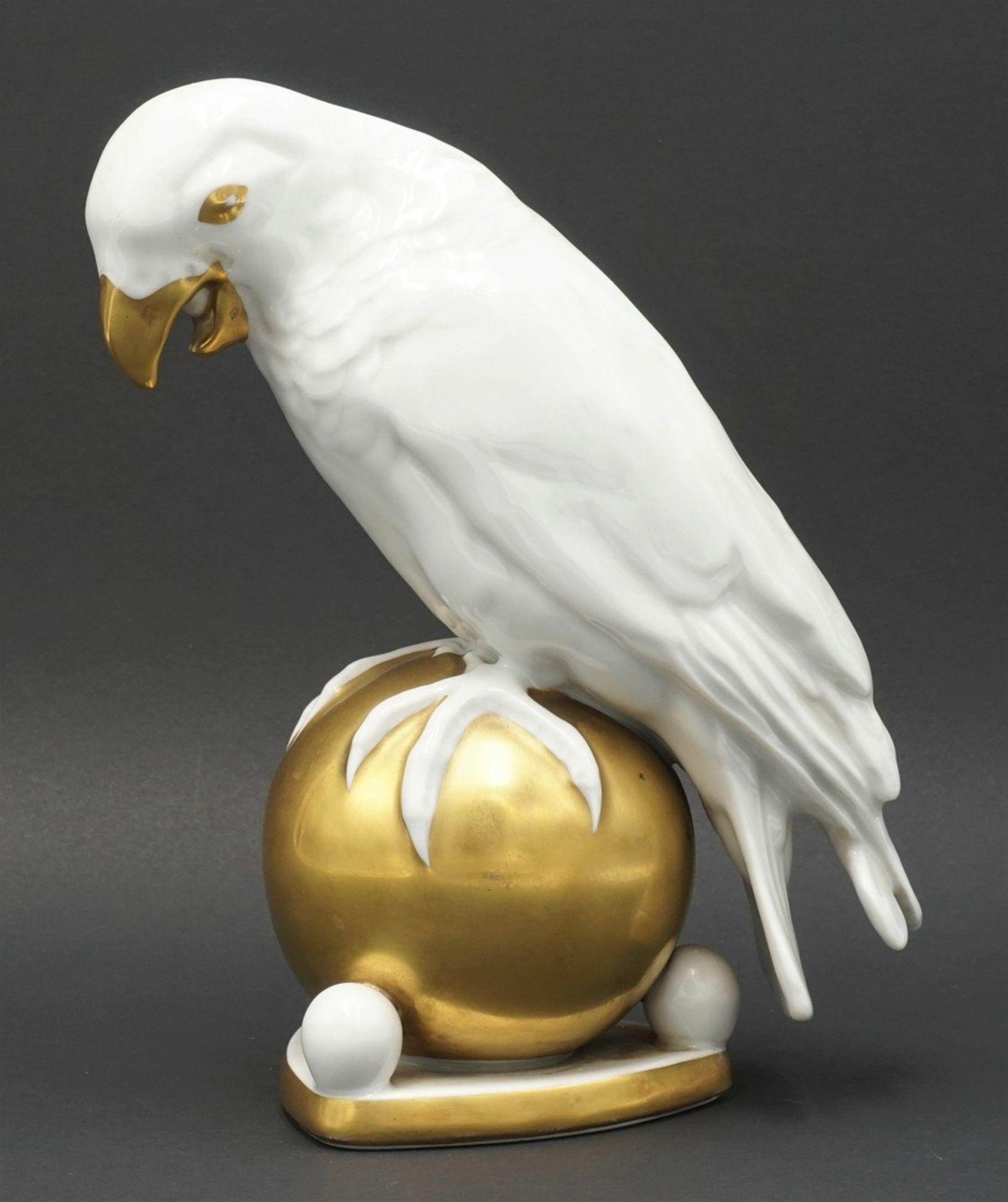 """Fritz Klee, Hutschenreuther """"Papagei auf Kugel"""", 1911-1939 - Bild 2 aus 5"""