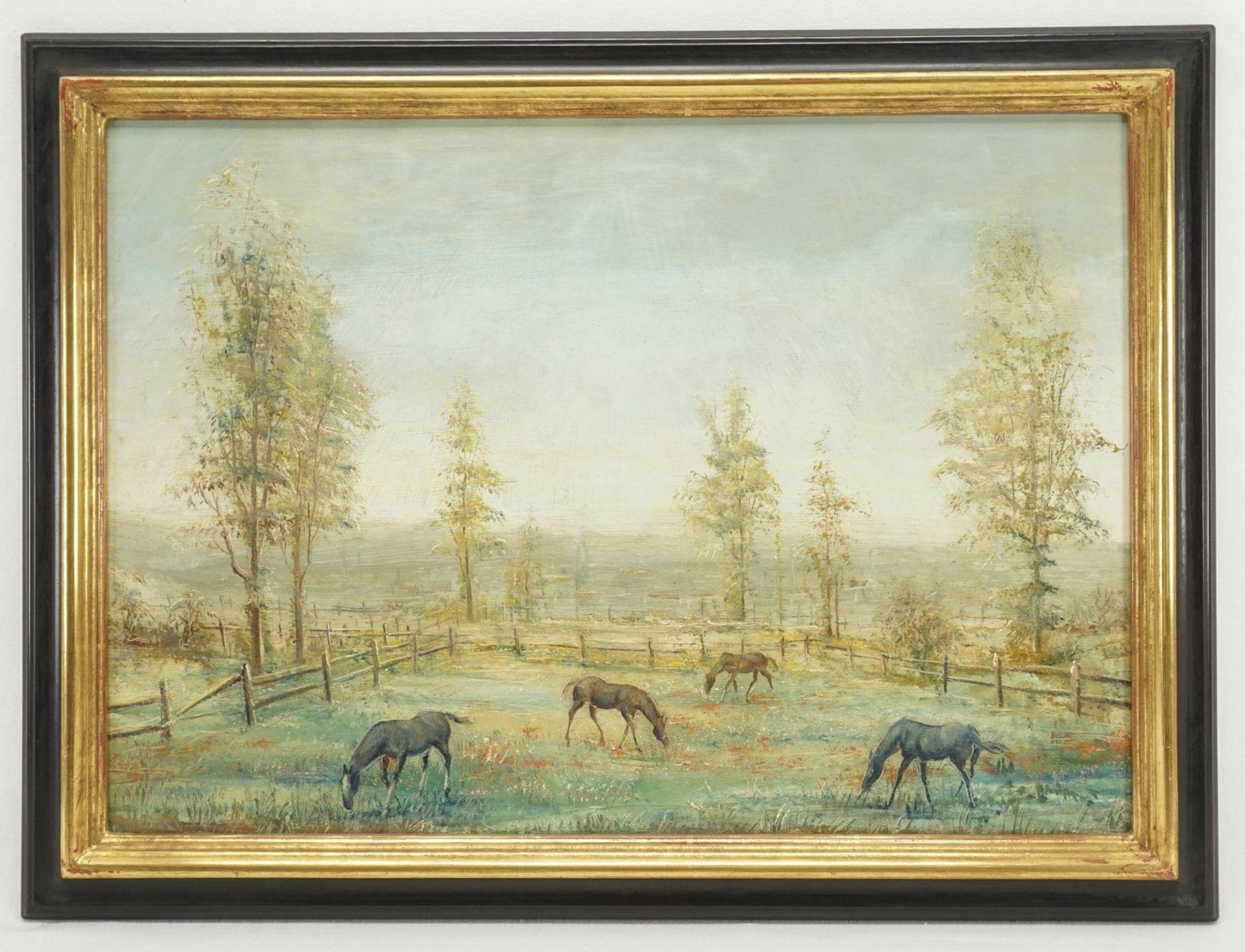 Lorenz Bösken, Pferde auf der sommerlichen Koppel - Bild 2 aus 3