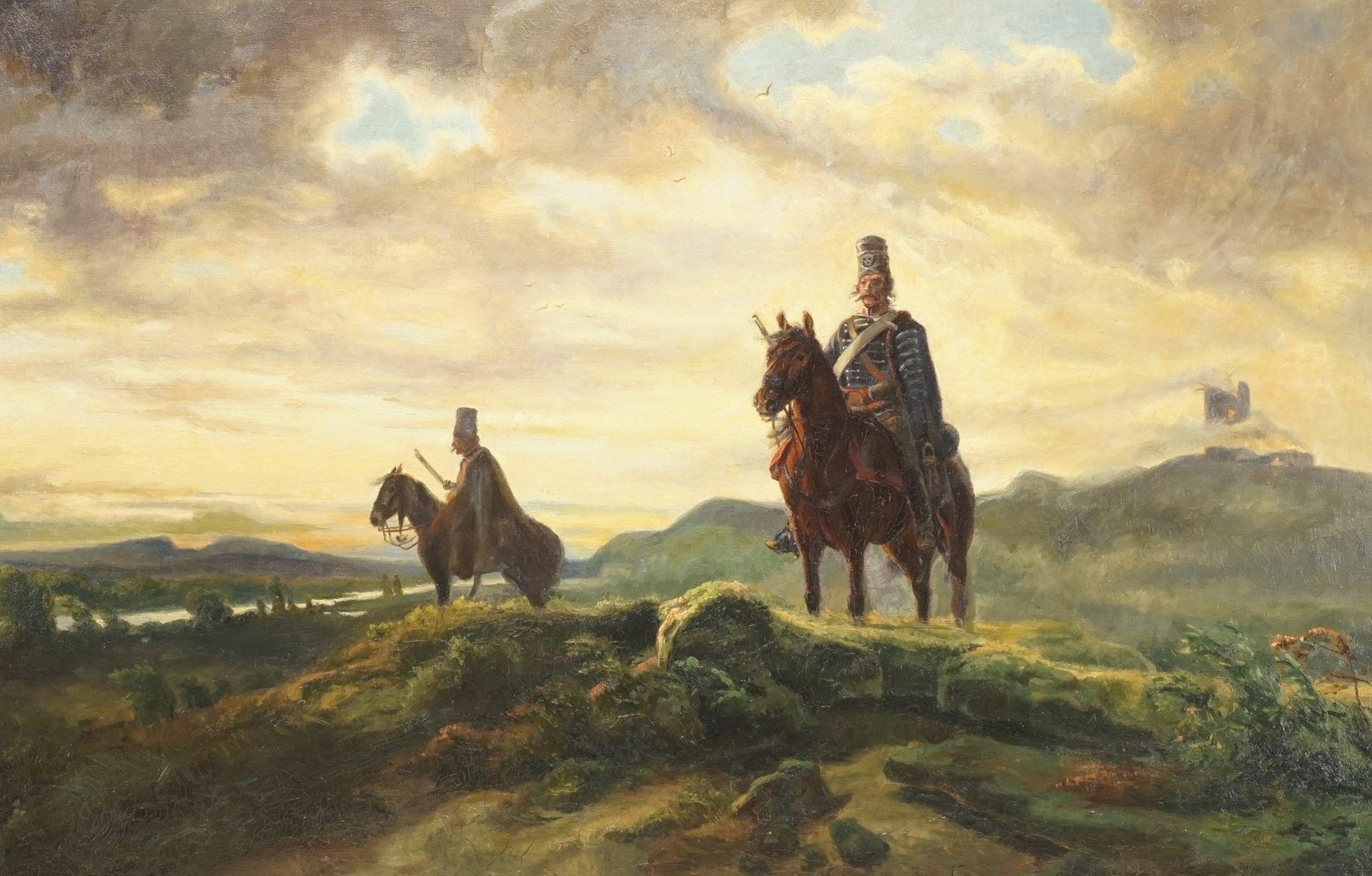 """Historienmaler des frühen 20. Jhs., """"Vedette (Schlacht bei Rossbach)"""", nach Wilhelm von Camphausen"""