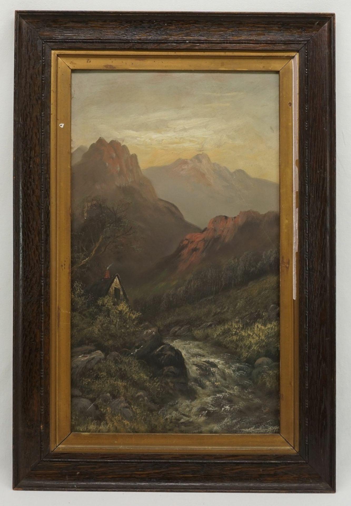 Unbekannter Künstler, Alpenglühen - Bild 2 aus 3