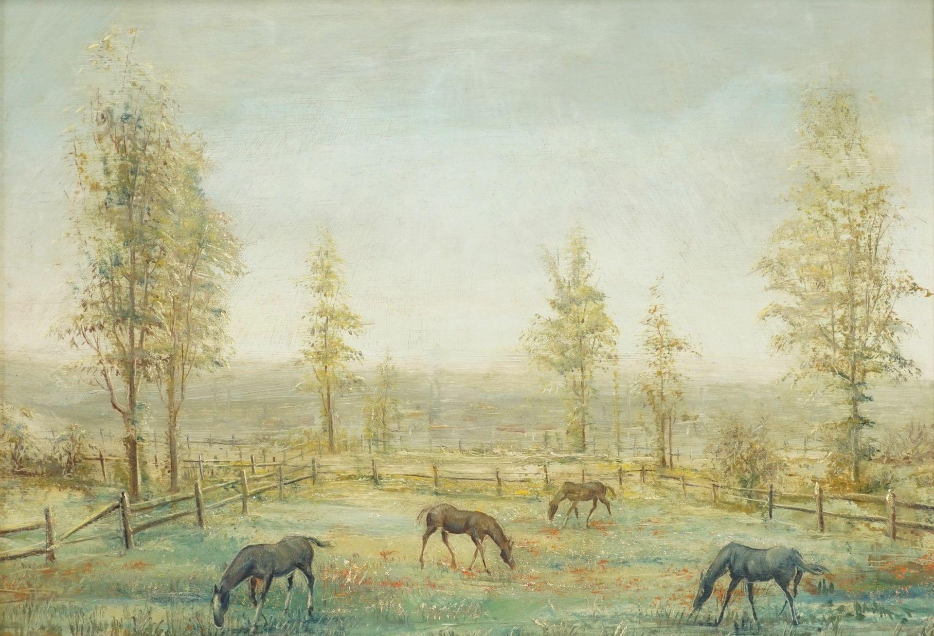 Lorenz Bösken, Pferde auf der sommerlichen Koppel