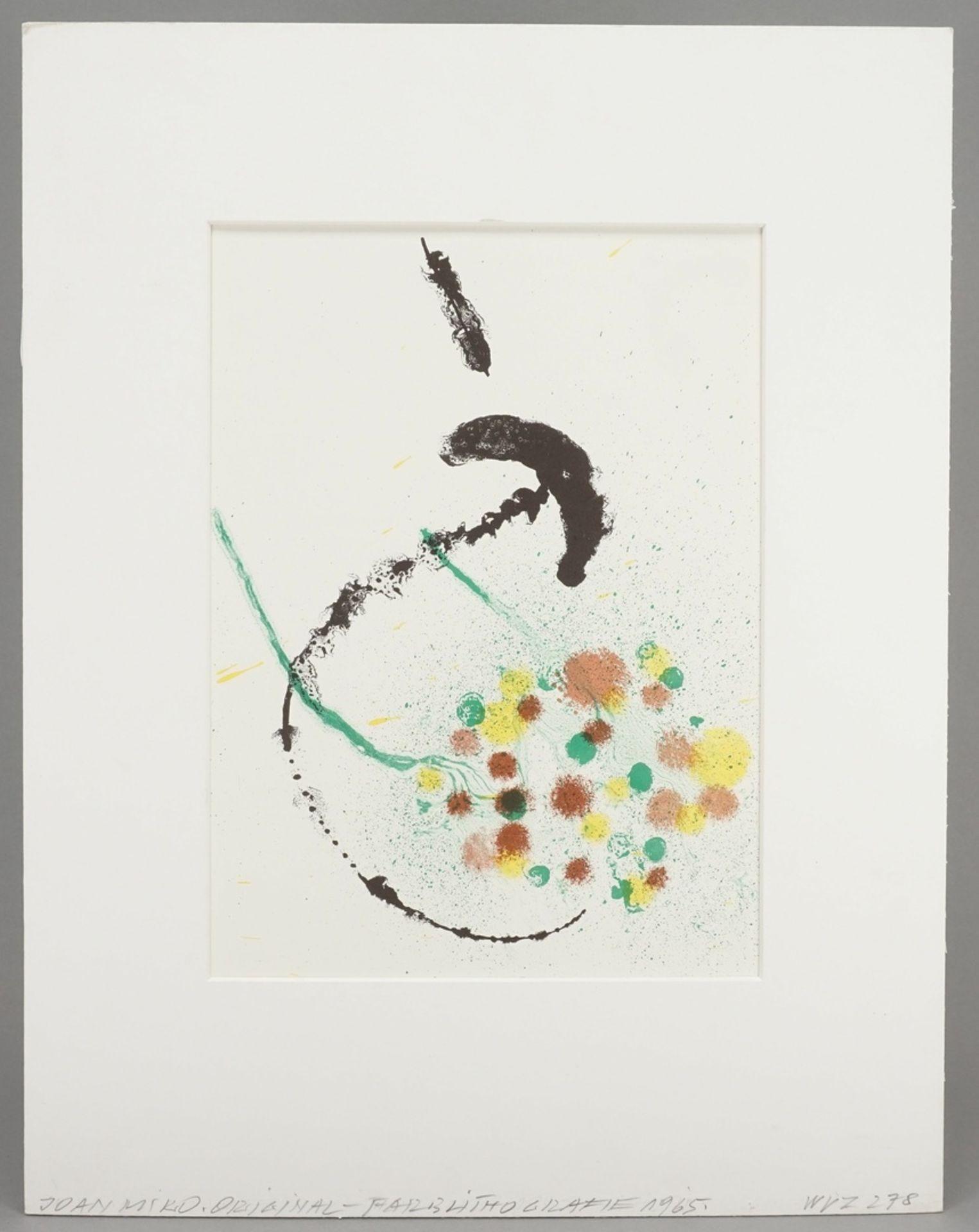 "Joan Miró, ""La Fille du Jardinier I - Composition III"" (Die Tochter des Gärtners, Komposition III) - Bild 2 aus 4"