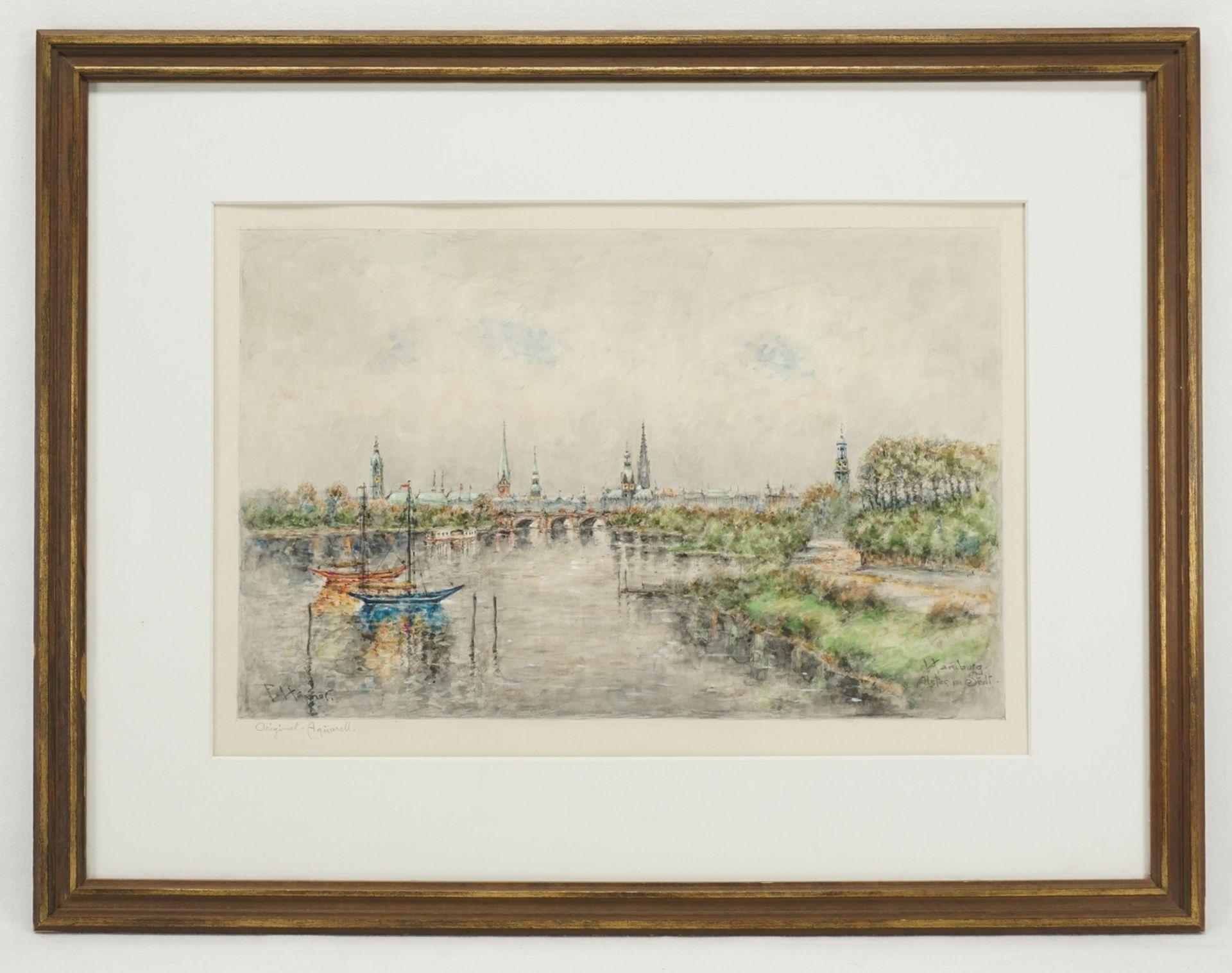 """Ferdinand Höpner, """"Hamburg. Alster und Stadt"""" - Bild 2 aus 4"""