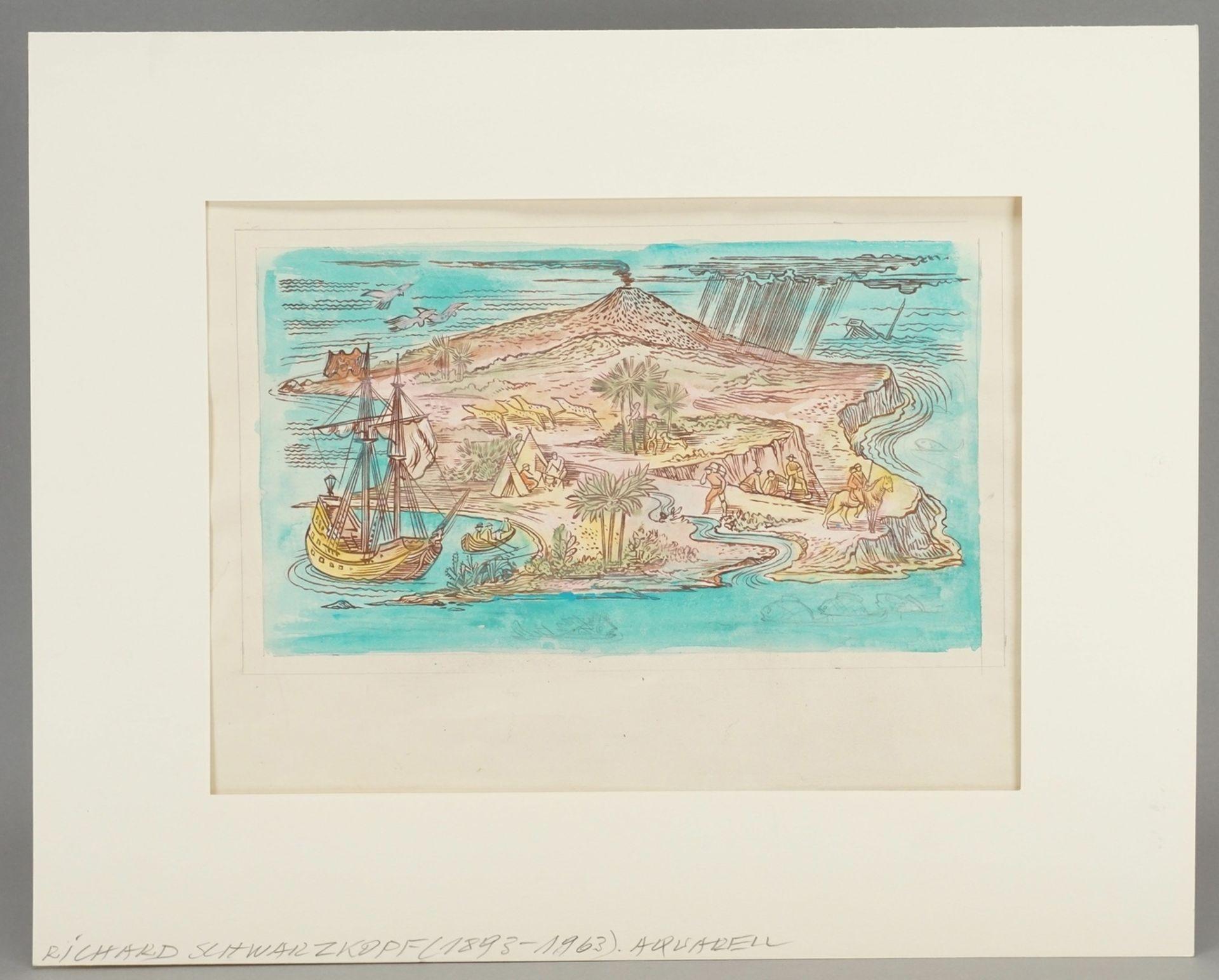 Richard Schwarzkopf, Exotische Insel mit Eroberern und Urbevölkerung - Bild 2 aus 4