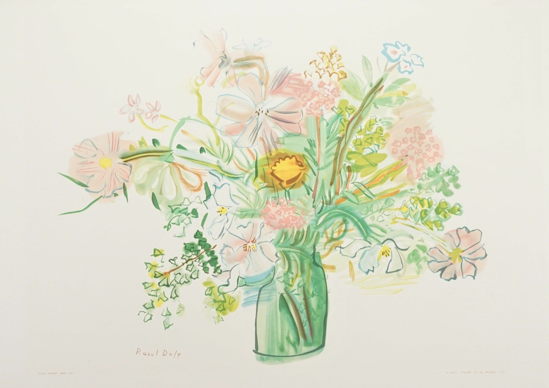 "Raoul Dufy, ""Fleurs"" (Blumen)"