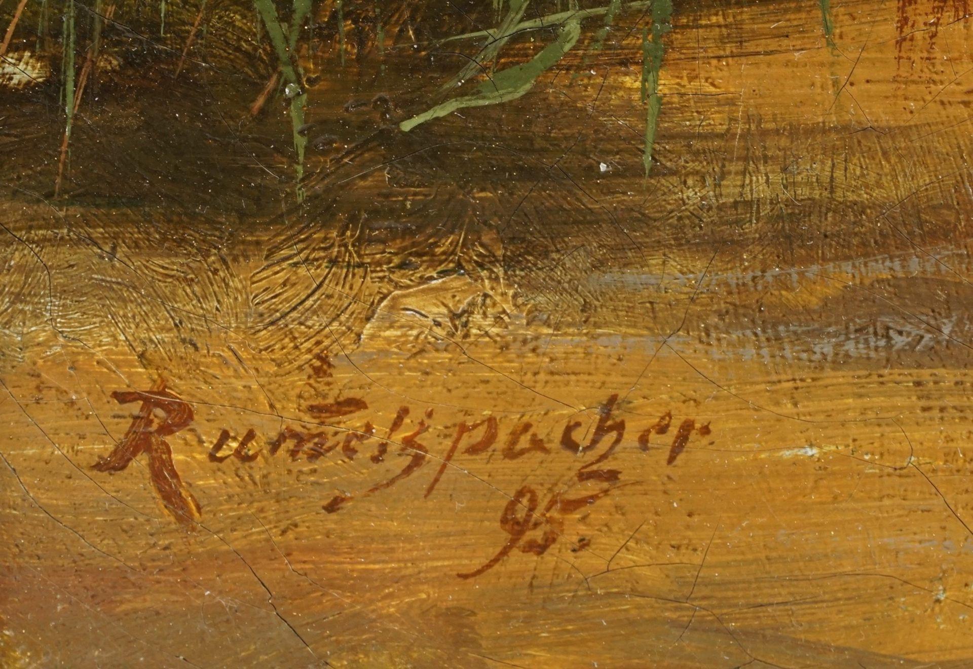 Joseph Rummelspacher, Waldinneres mit kleinem Bachlauf - Bild 4 aus 4