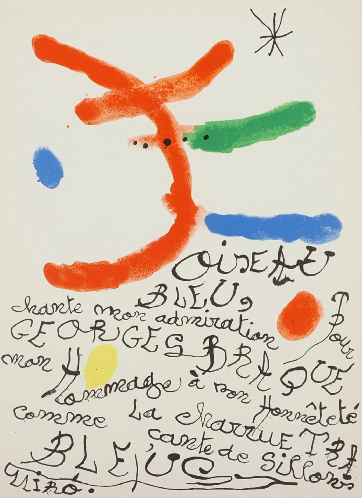 """Joan Miró, """"Oiseau bleu"""" (Hommage à Georges Braque)"""
