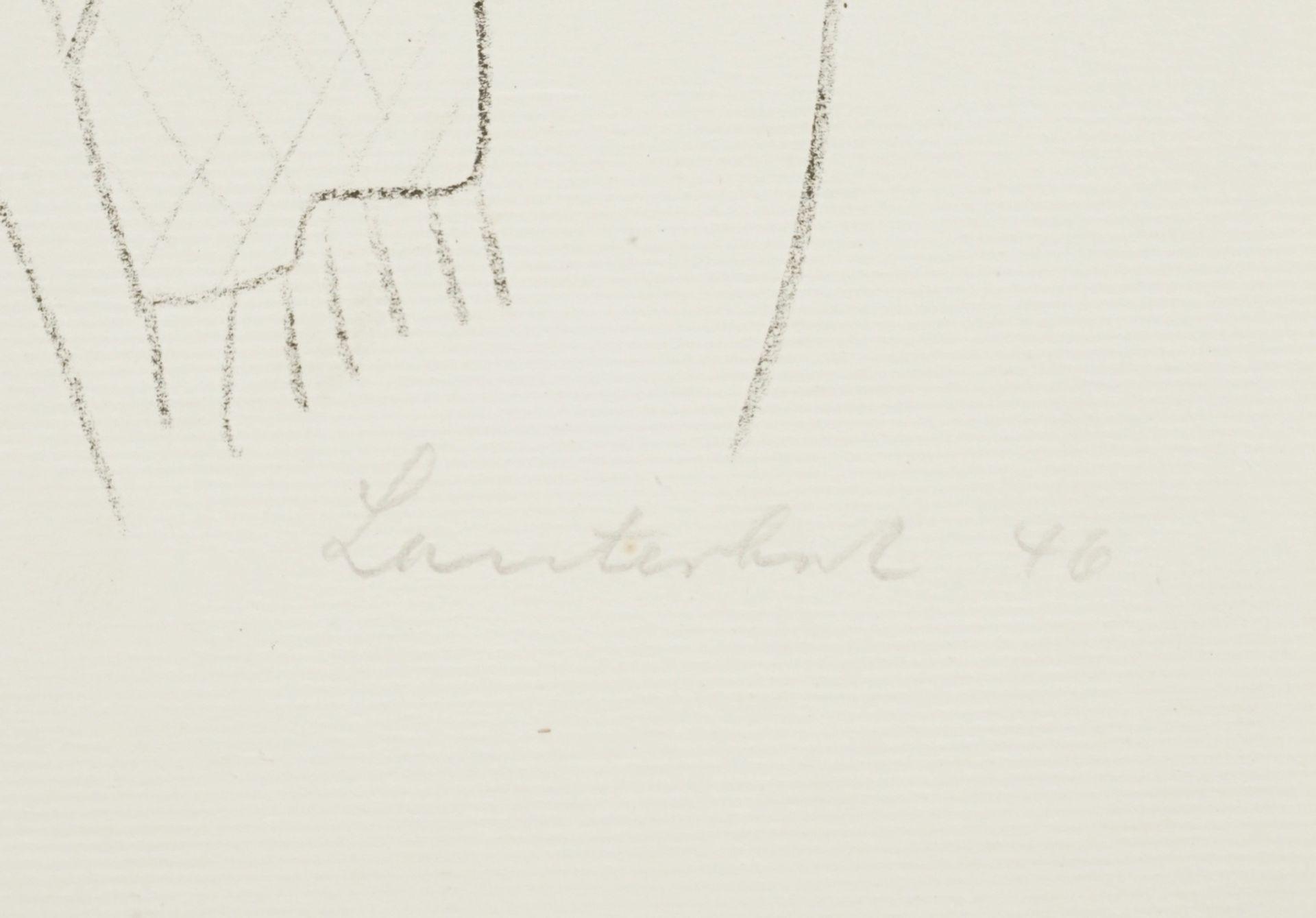 Carl Lauterbach, Zwei Frauenköpfe - Bild 4 aus 4