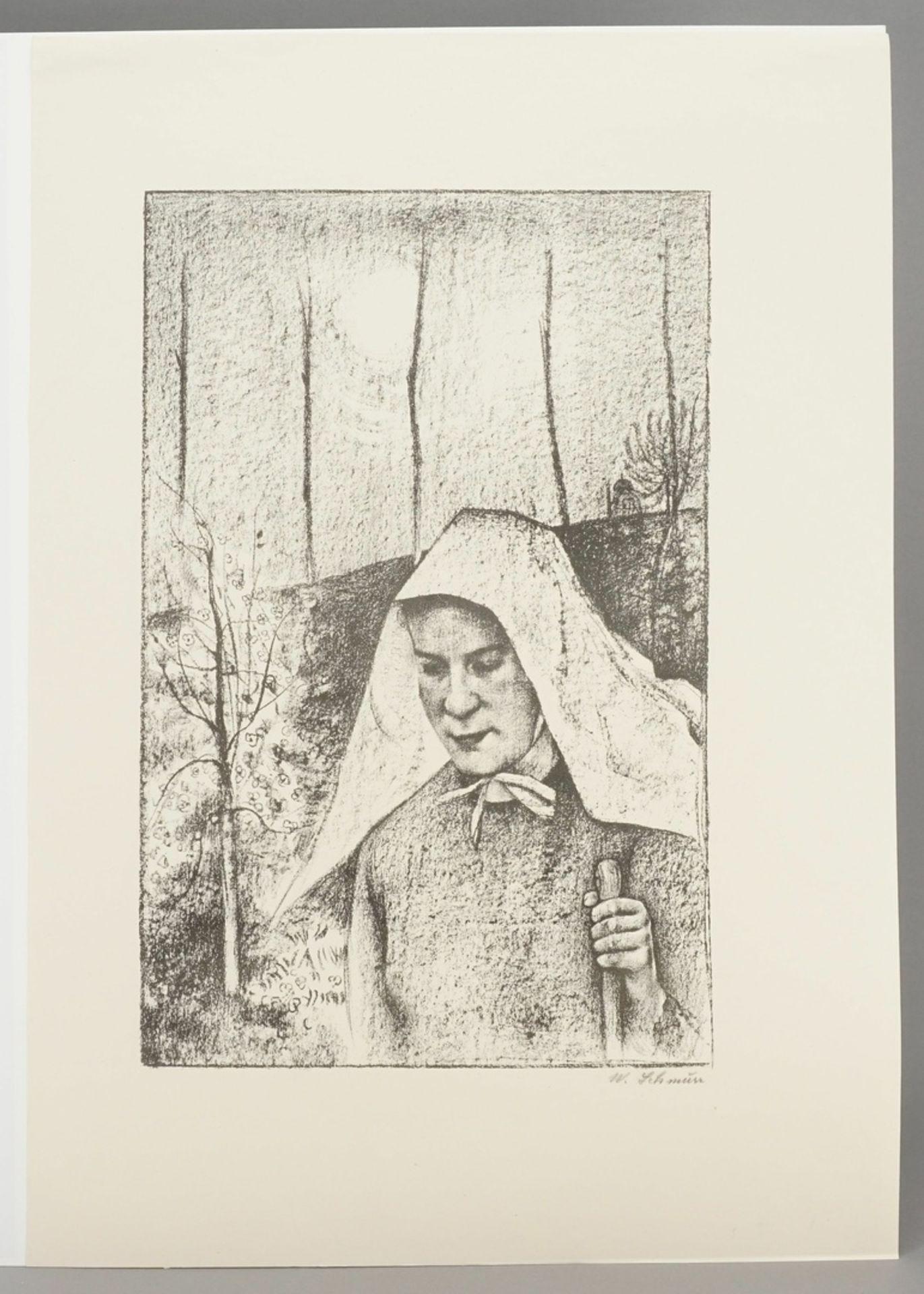 """Wilhelm Schmurr, """"Bäuerin mit Tuch"""" - Bild 3 aus 3"""