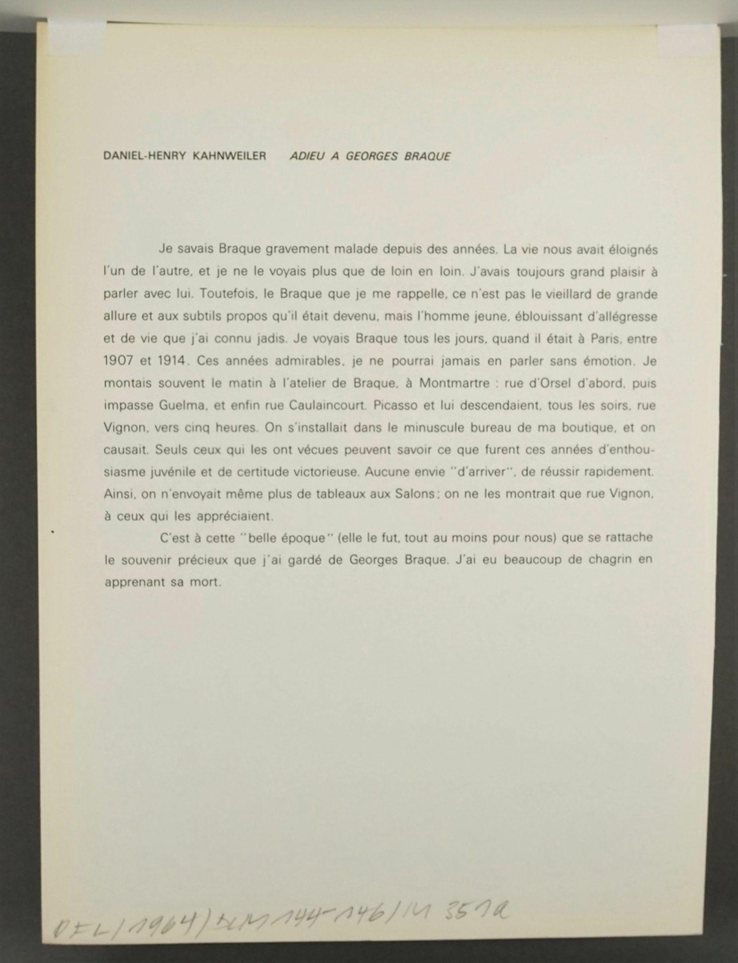 """Joan Miró, """"Oiseau bleu"""" (Hommage à Georges Braque) - Bild 4 aus 4"""
