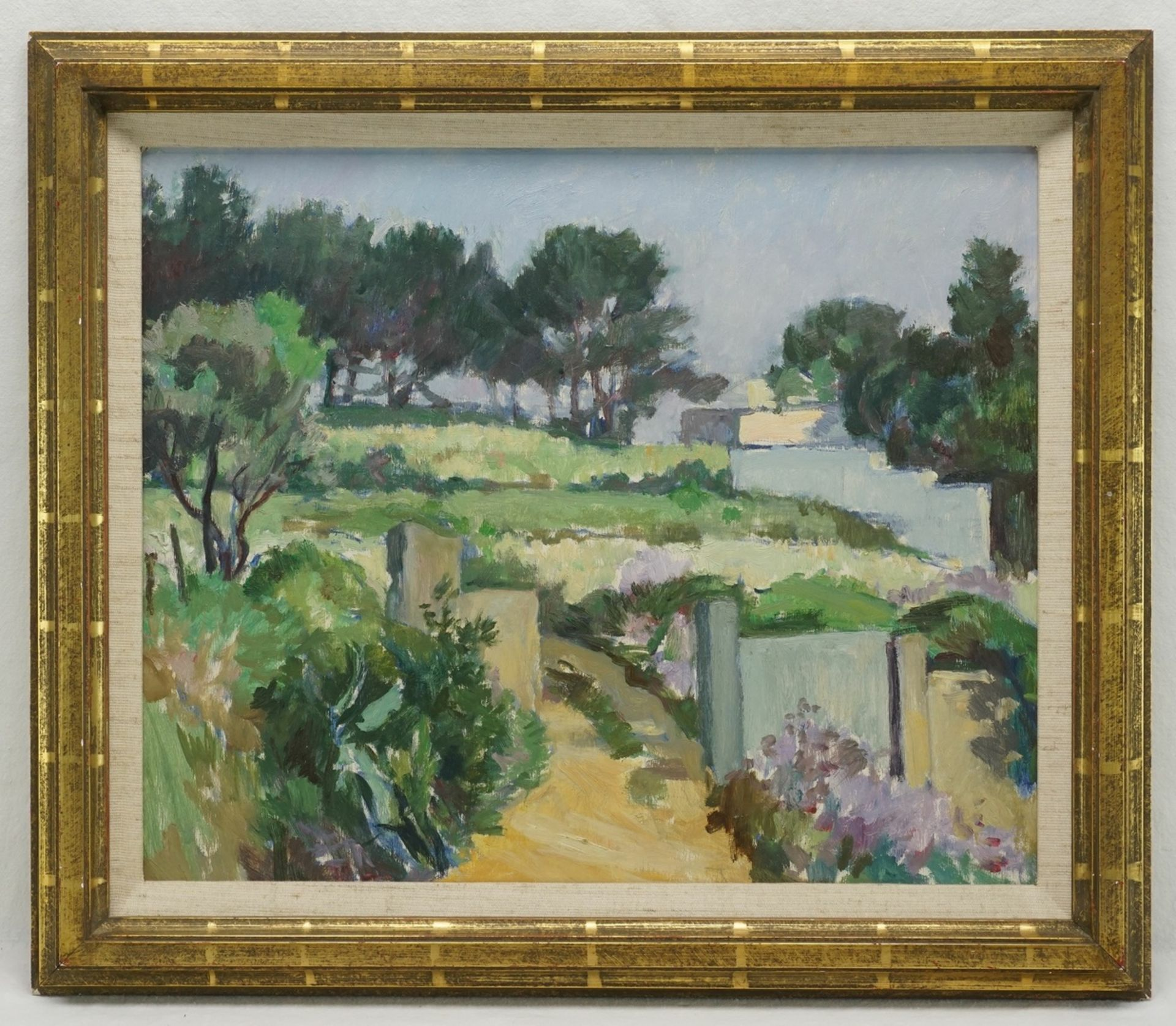 """Leo Assenmacher, """"Landschaft II"""" (Südliche Sommerszene) - Bild 2 aus 3"""