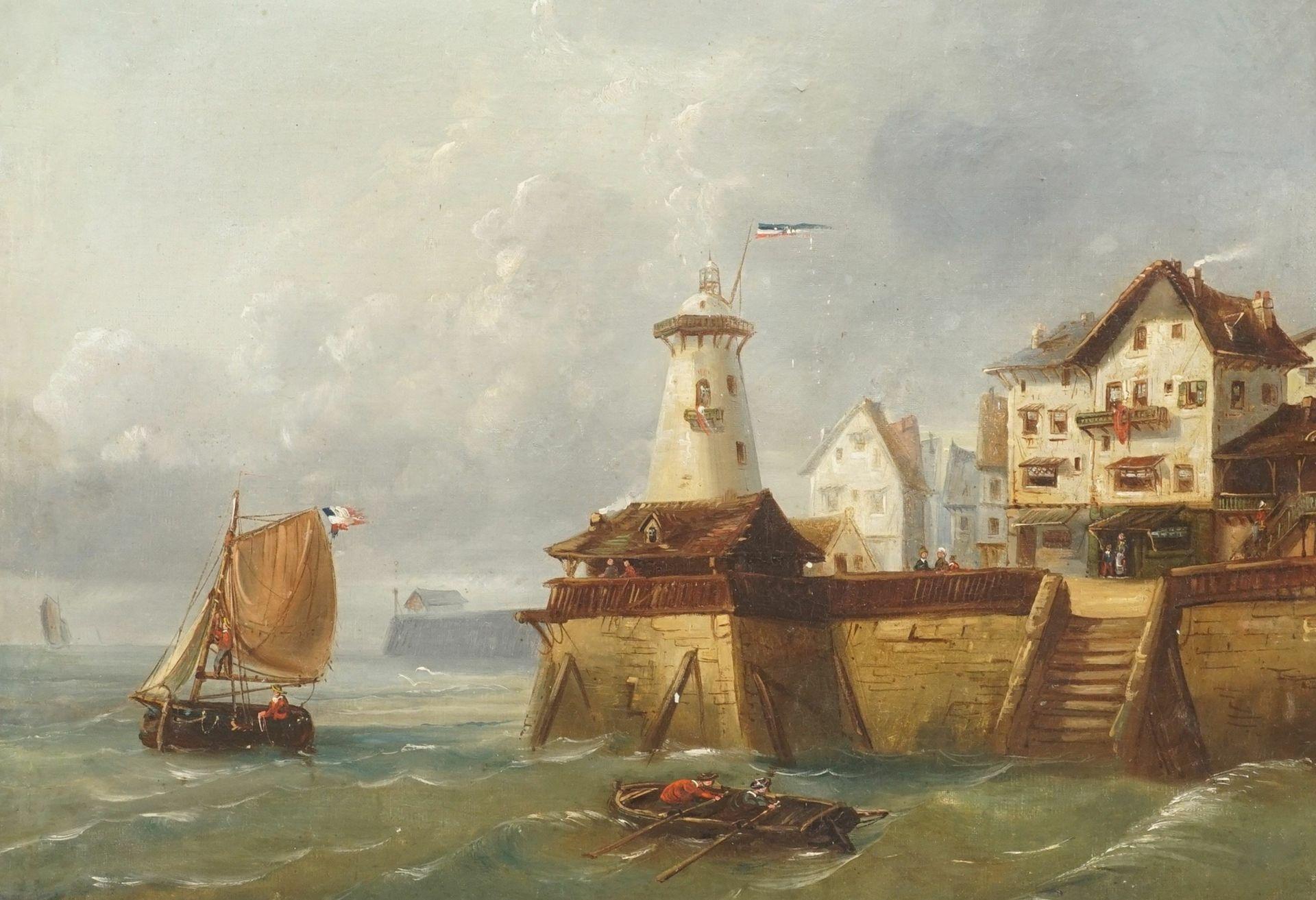 """Landschafts- und Marinemaler, """"Vor der Kaimauer"""""""
