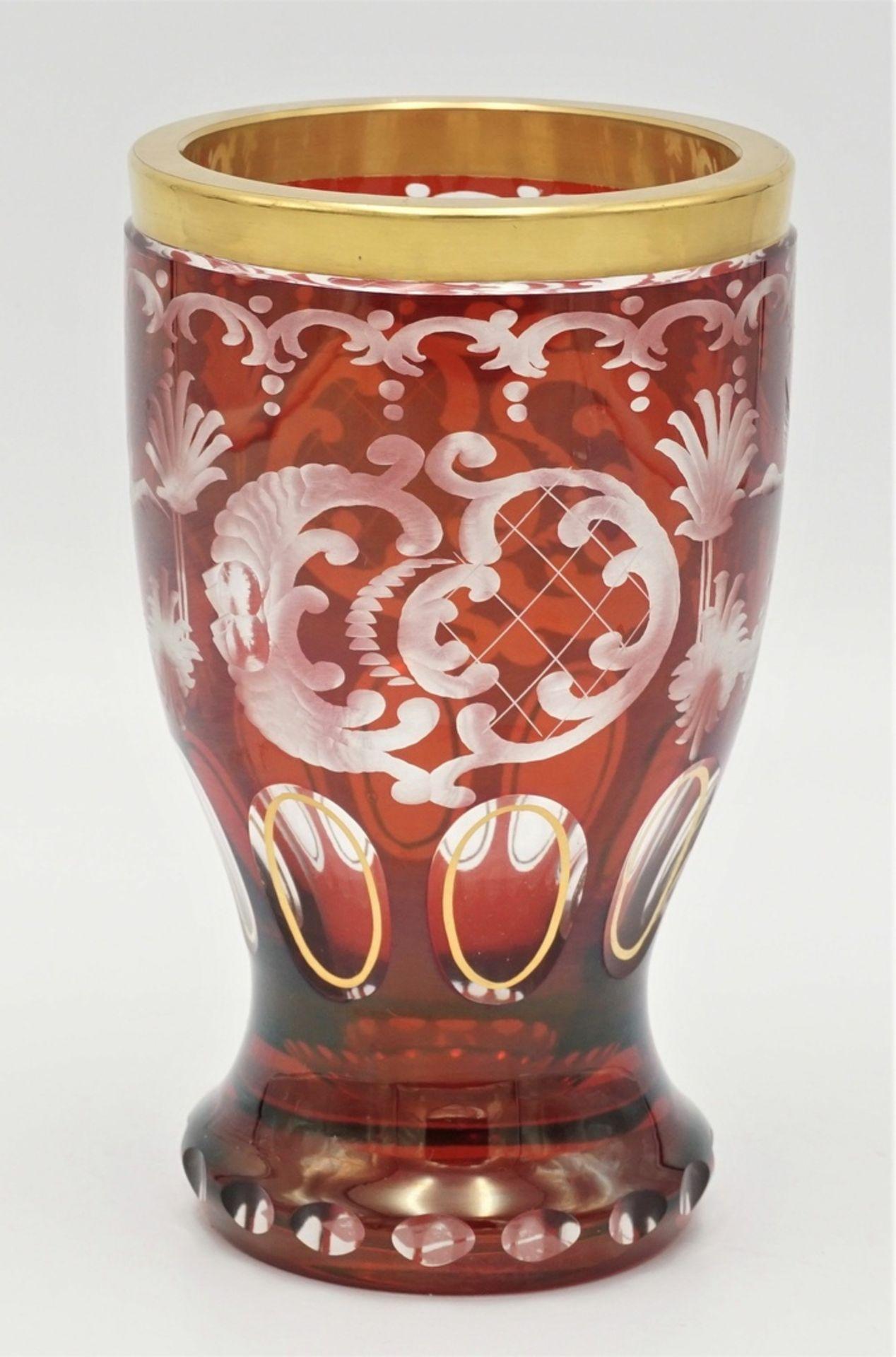 Böhmen Becherglas - Bild 3 aus 3